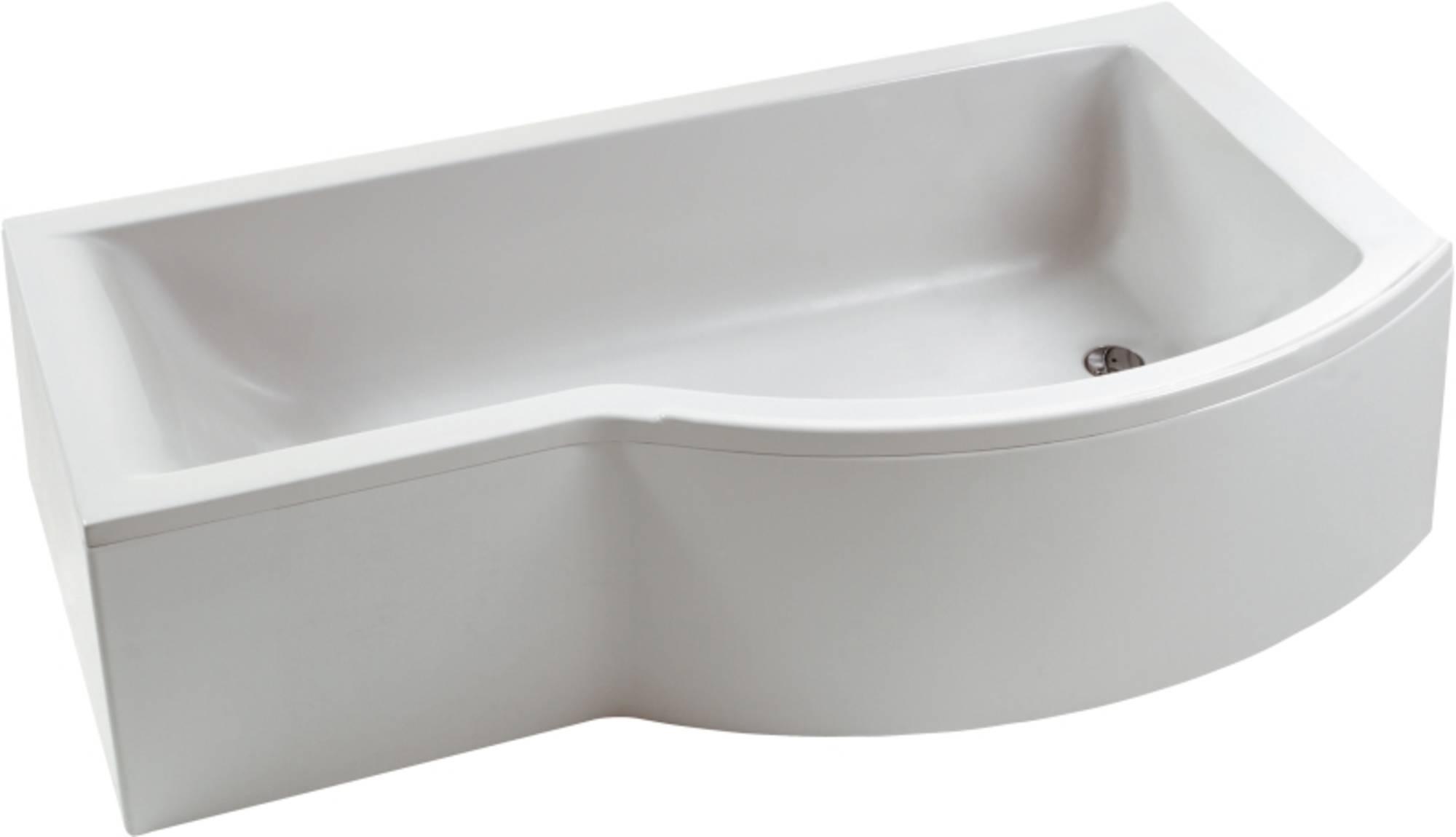 Ideal Standard Connect bad 170x70 cmmet douchezone rechts en ideal waste Wit