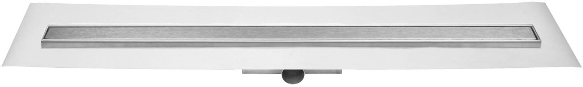 Easydrain Compact ff zero afvoergoot 80x6 cm, zijaansluiting, rvs