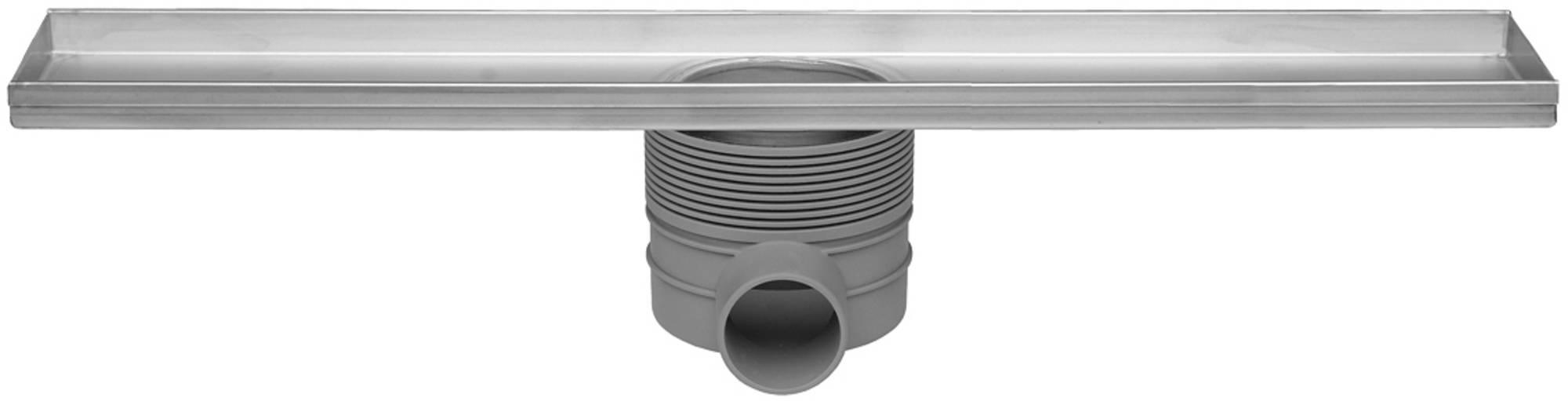 Easydrain Multi inbouwdeel drain 80 cm, zonder rooster, rvs
