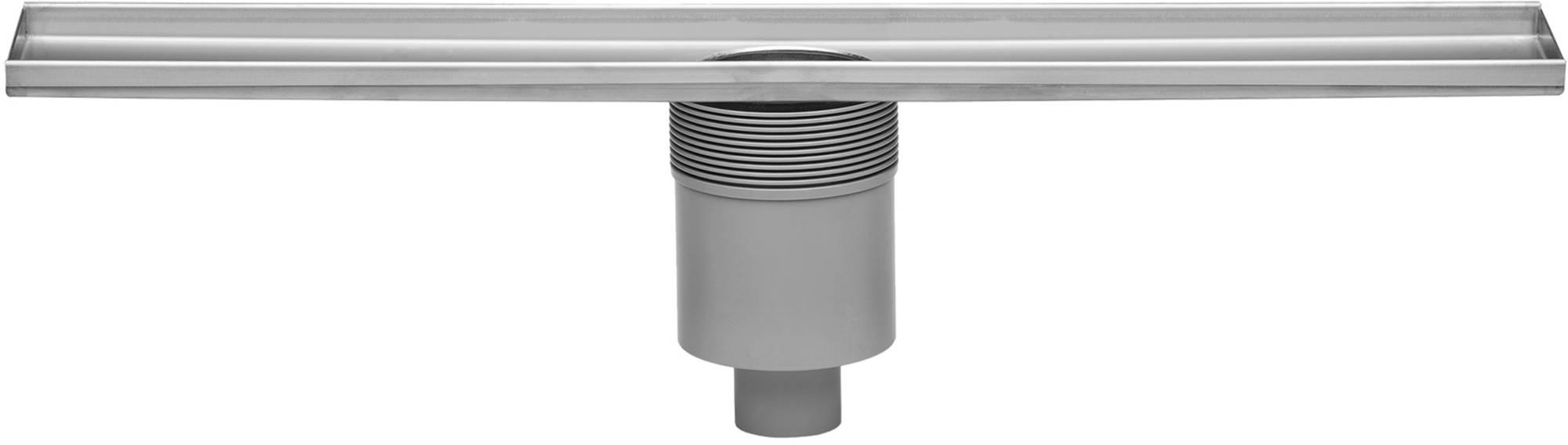 Easydrain Multi douchegoot 90 cm, onderuitloop zonder rooster, rvs