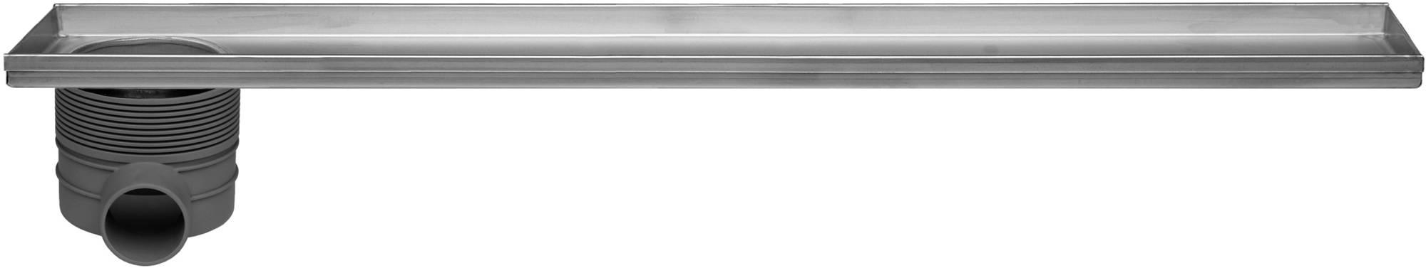 Easydrain Multi inbouwdeel 9x90 cm, met zij uitloop, rvs