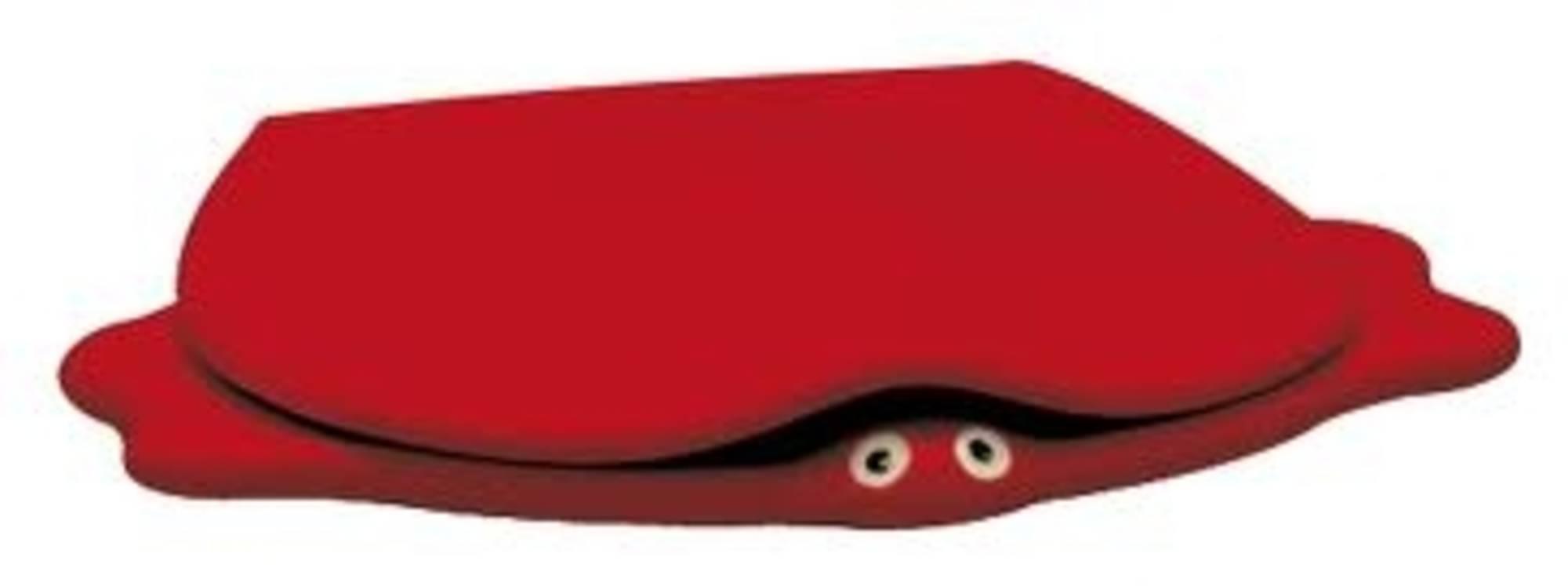 Sphinx Serie 300 kids turtle closetzitting met deksel softclosing, rood