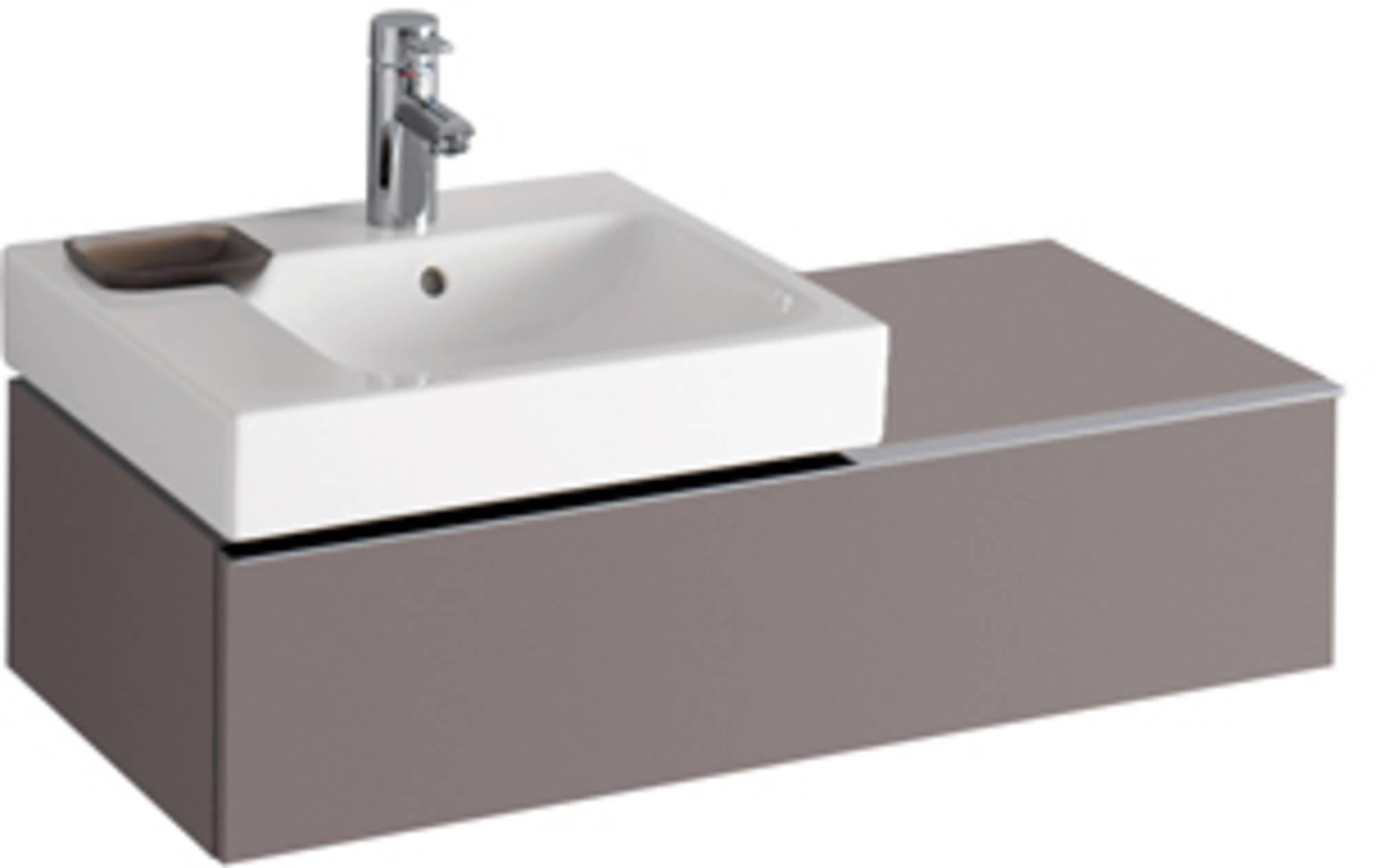 Sphinx Serie 345 wastafelonderbouw 89 cm uitsparing links Wit
