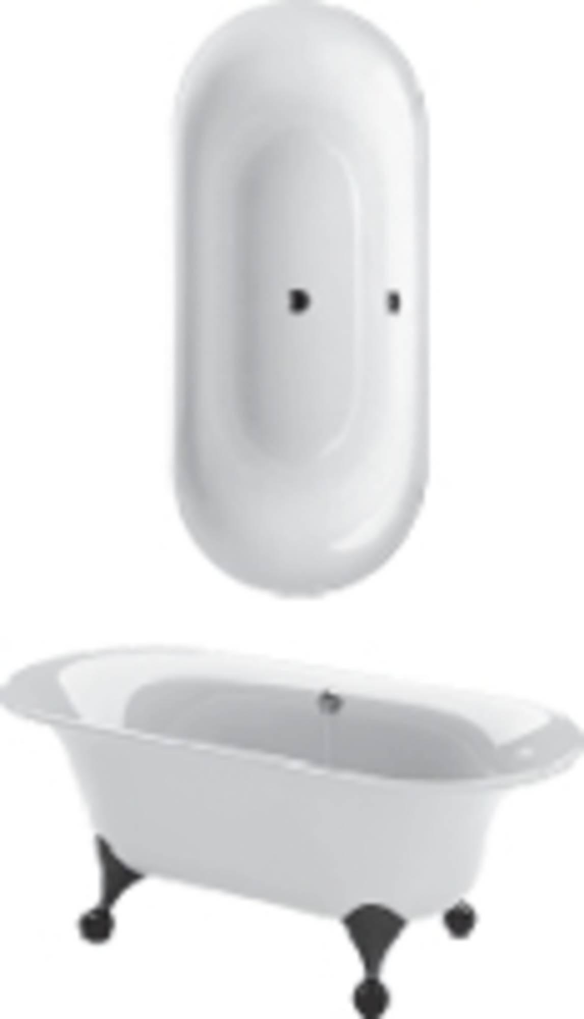 Villeroy&Boch Ceta bad 175x75 cm met poten wit Wit