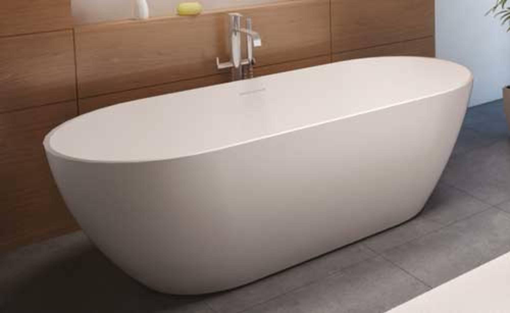 Riho Solid Surface Vrijstaand Bad Mat Wit 170 x 80 x 55,5 cm