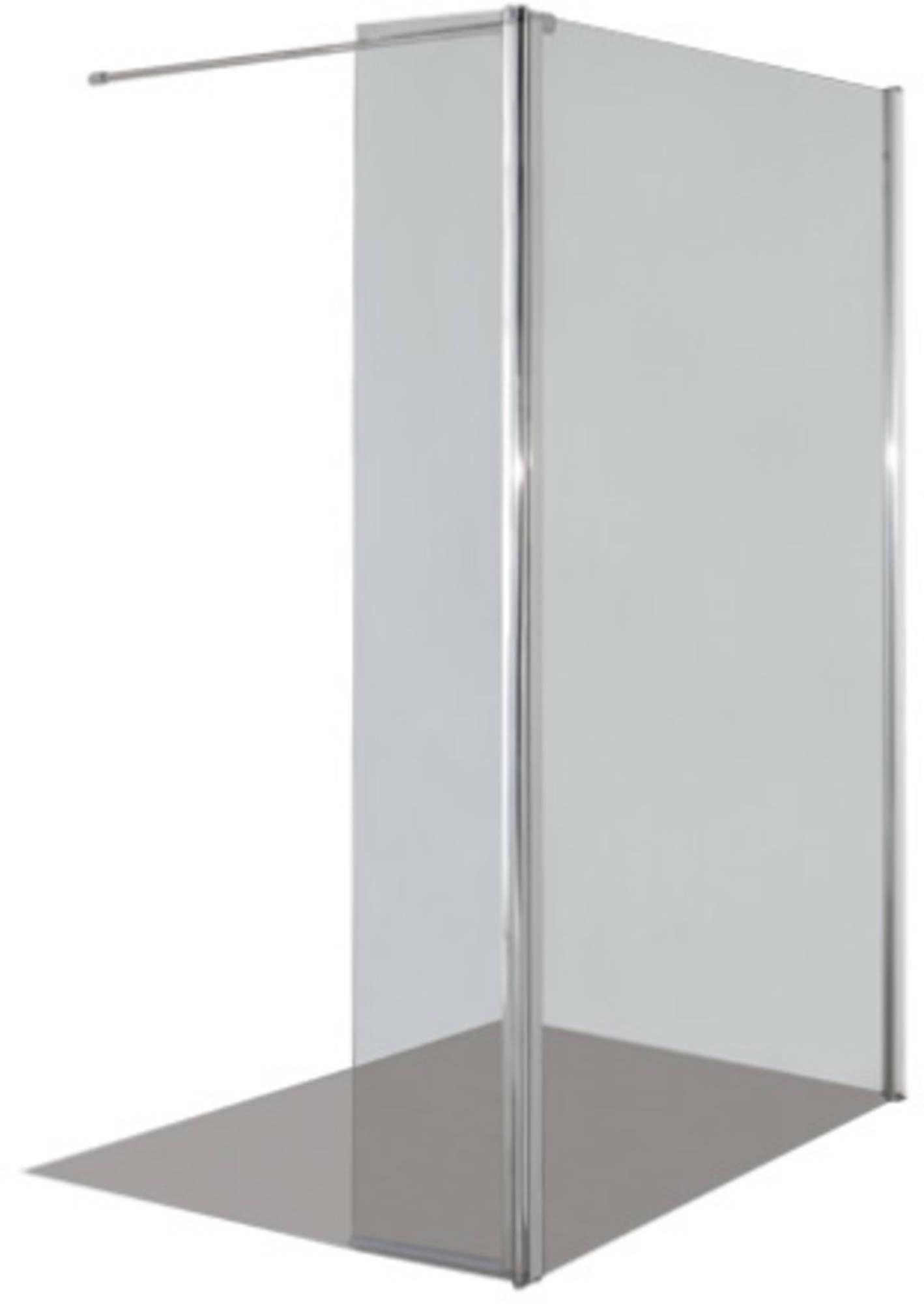 saqu sizzano inloopdouche 120 30x200 cm aluminium gepolijst