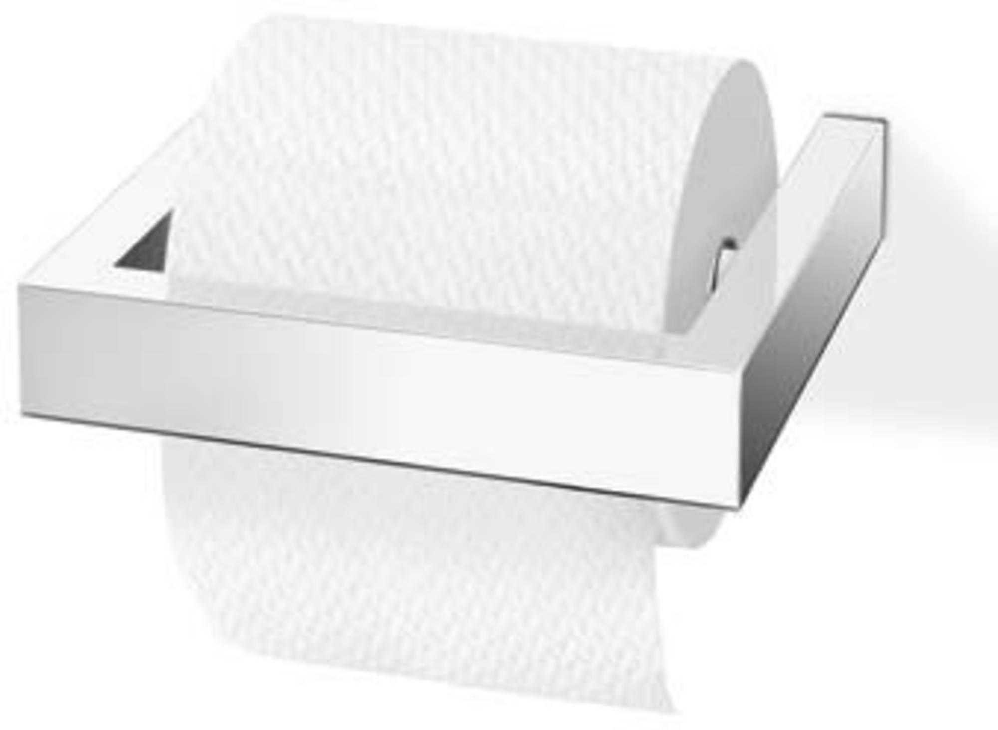 ZACK Linea Toiletrolhouder Spiegelglans RVS