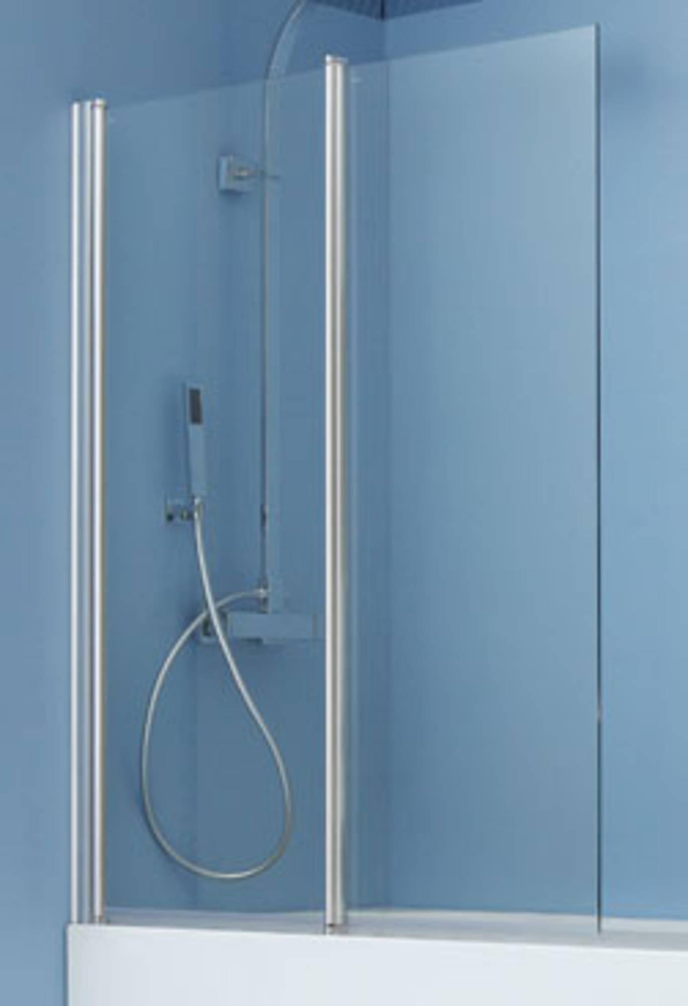 Ben Iveo 2-delige Badwand 97x140cm Chroom - Helder Glas