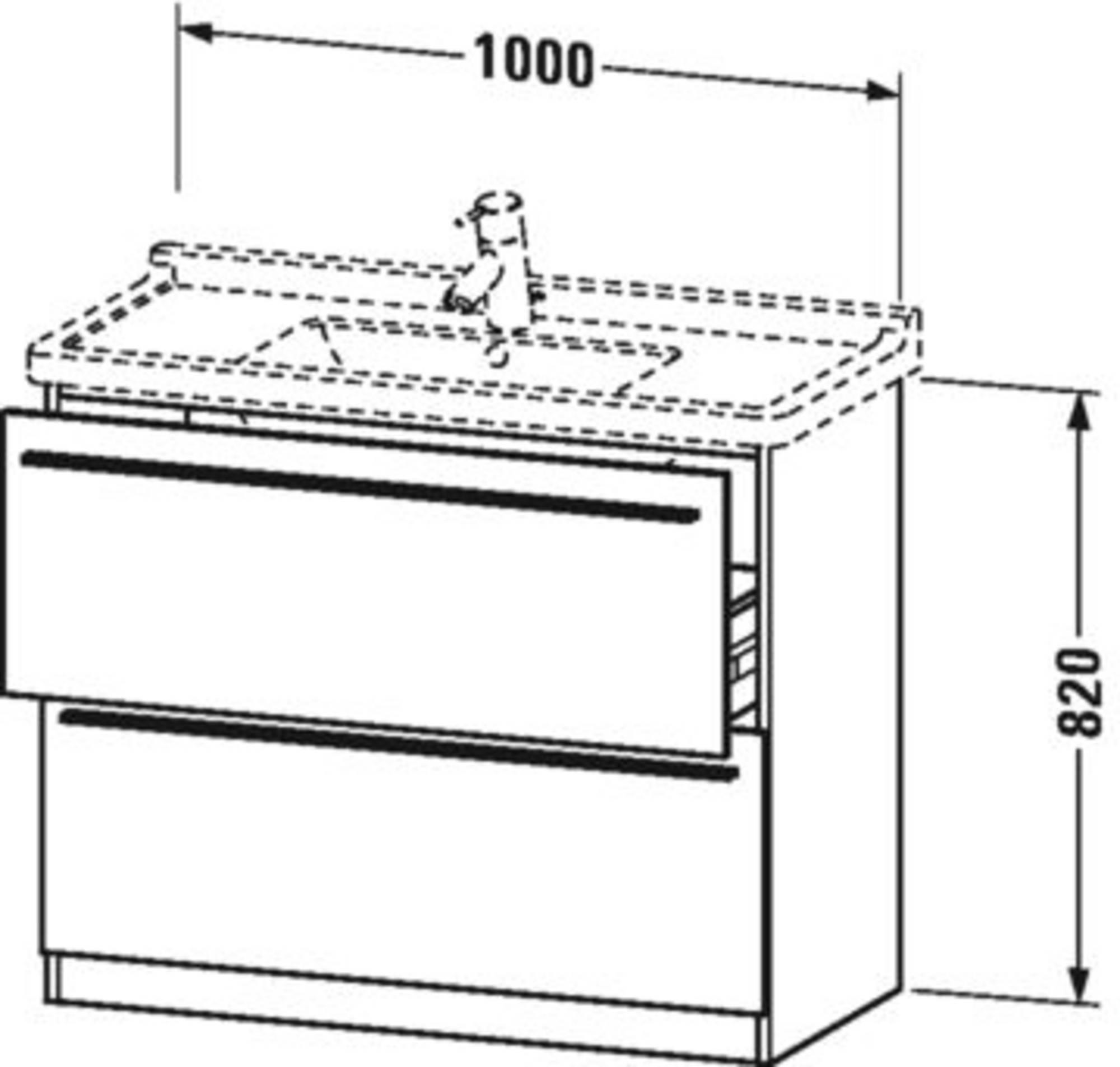 Duravit X-Large wastafelonderkast 2 laden voor Starck 3 100x47x82 cm Pine terra