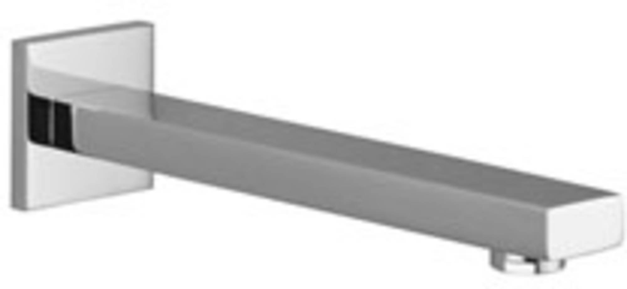 Dornbracht Symetrics Baduitloop voor wandmontage Platina Mat