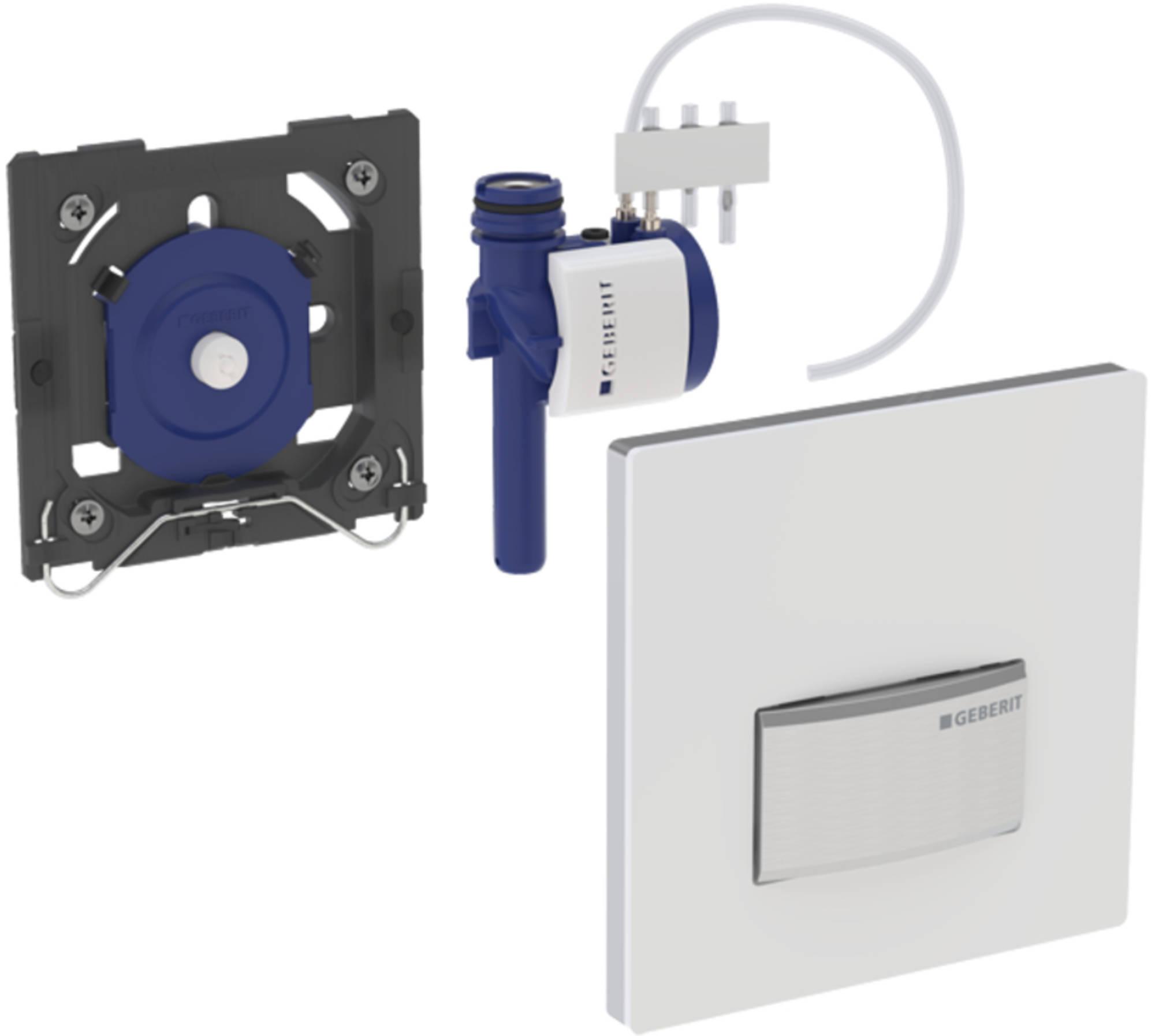 Geberit Sigma50 urinoir bedieningsplaat pneumatisch eigen ontwerp, klantspecifiek