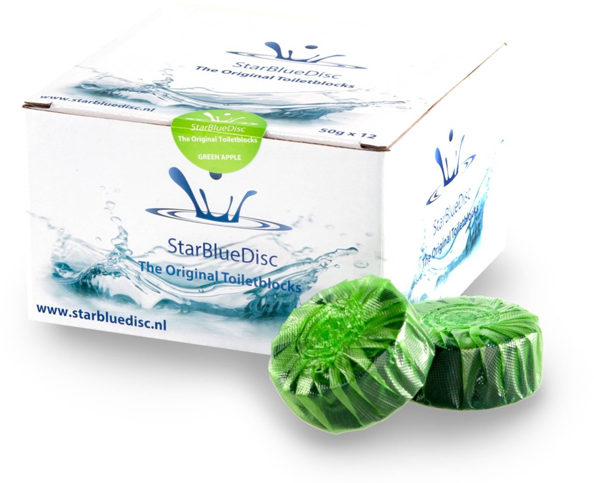 StarBlueDisc 12 stuks toiletblokjes halfjaar verpakking Groen