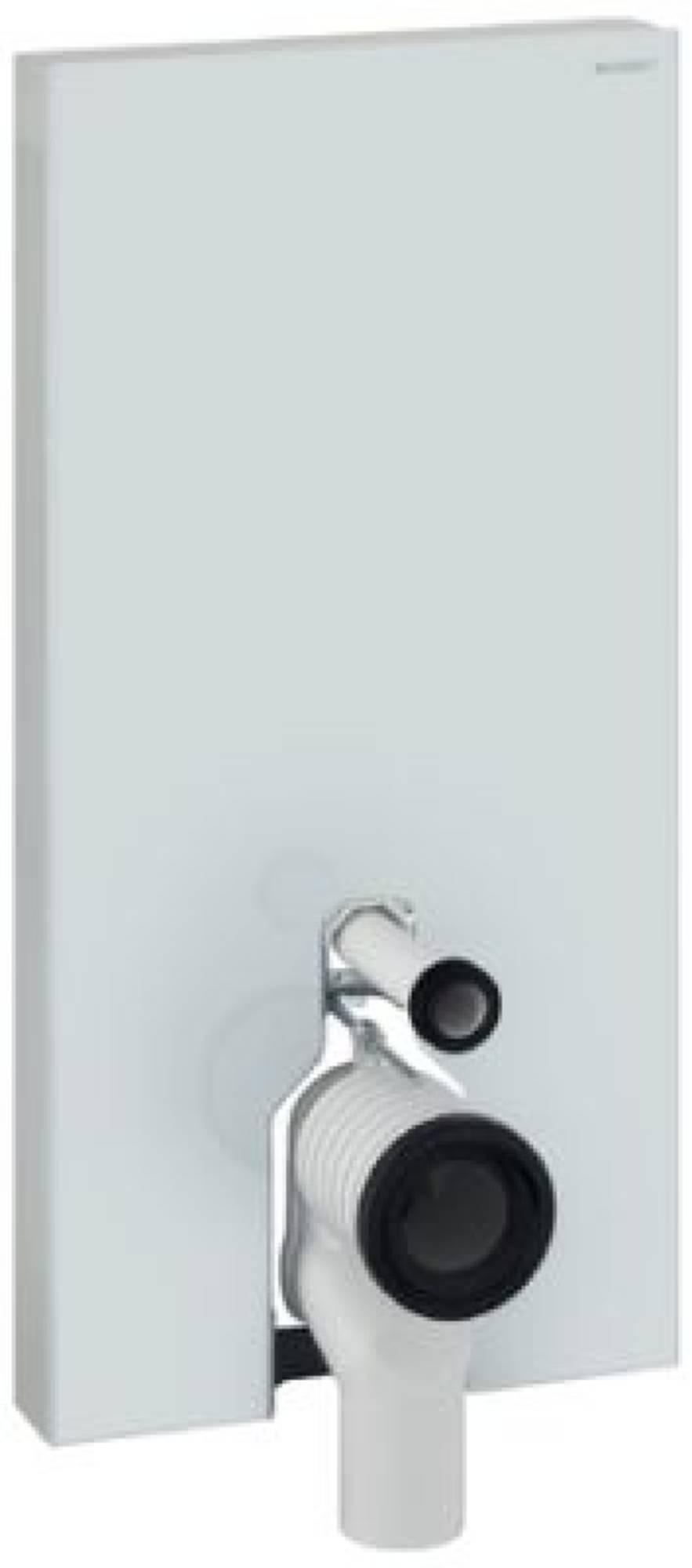 Geberit Monolith plus module voor staand closet h101 glas wit aluminium