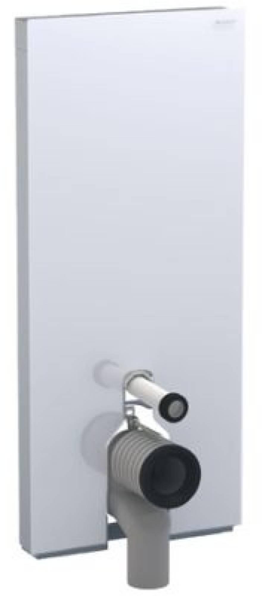Geberit Monolith plus module voor staand closet h114 glas wit aluminium