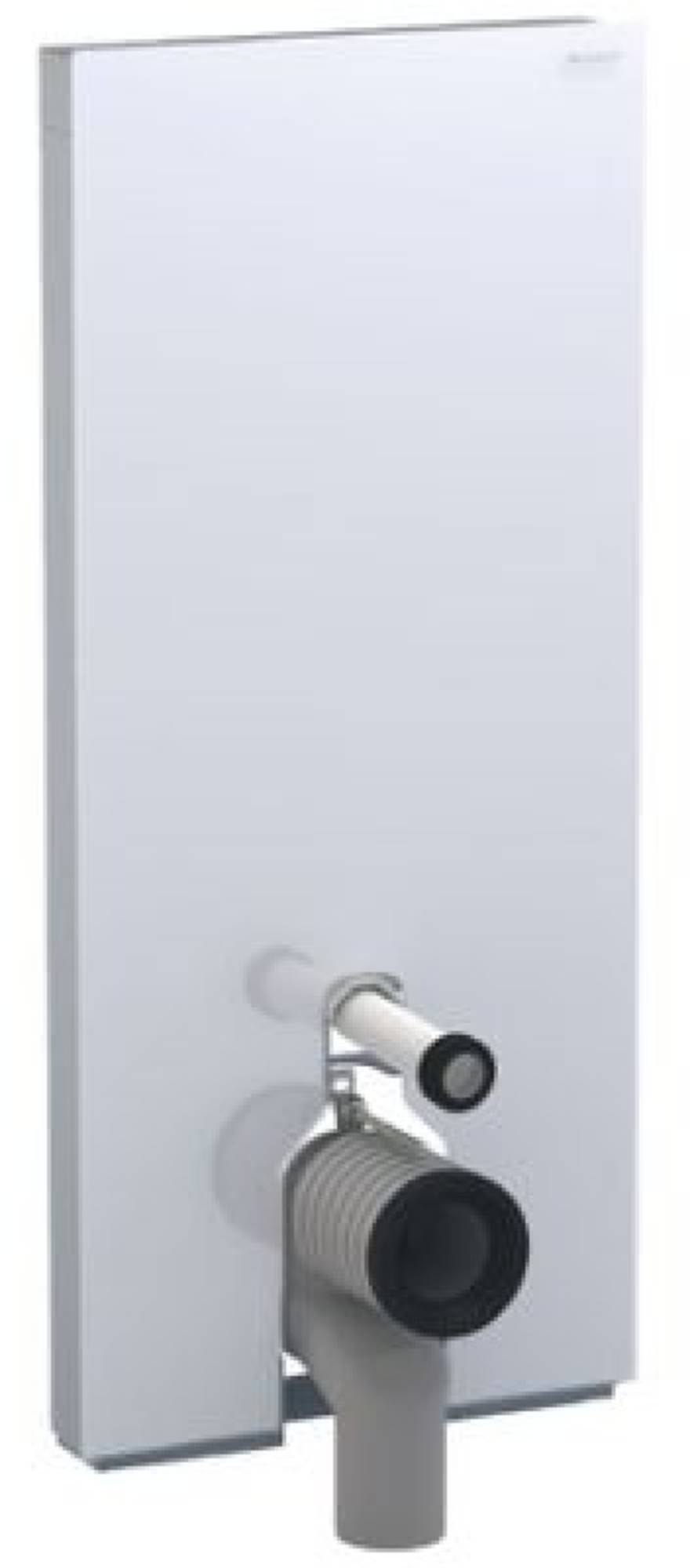 Geberit Monolith plus module voor staand closet h114 glas zwart aluminium