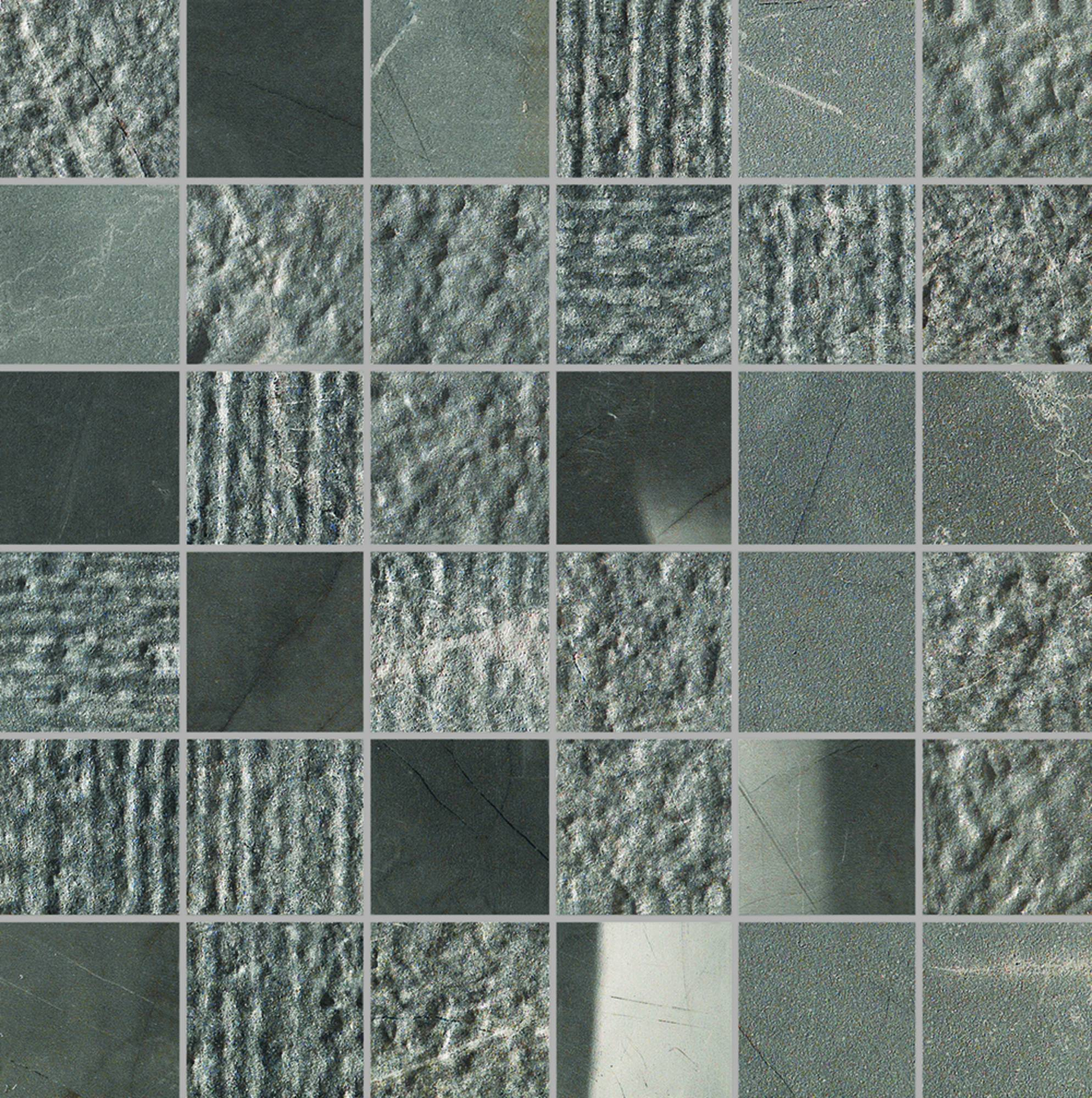 Mozaiek Italgraniti Experience 30x30x0,95 cm Antracite 1,08M2