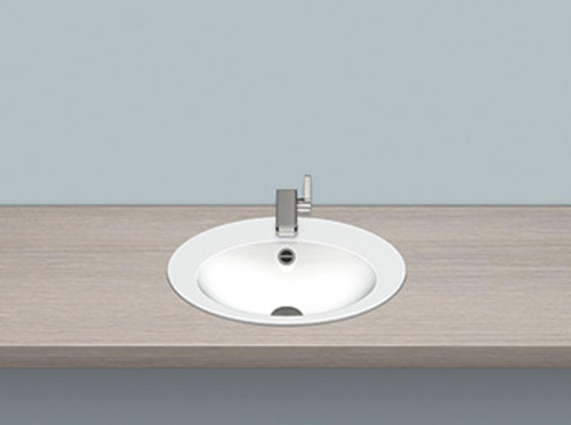 Alape Eb serie opbouw wastafel 50x40 cm, wit