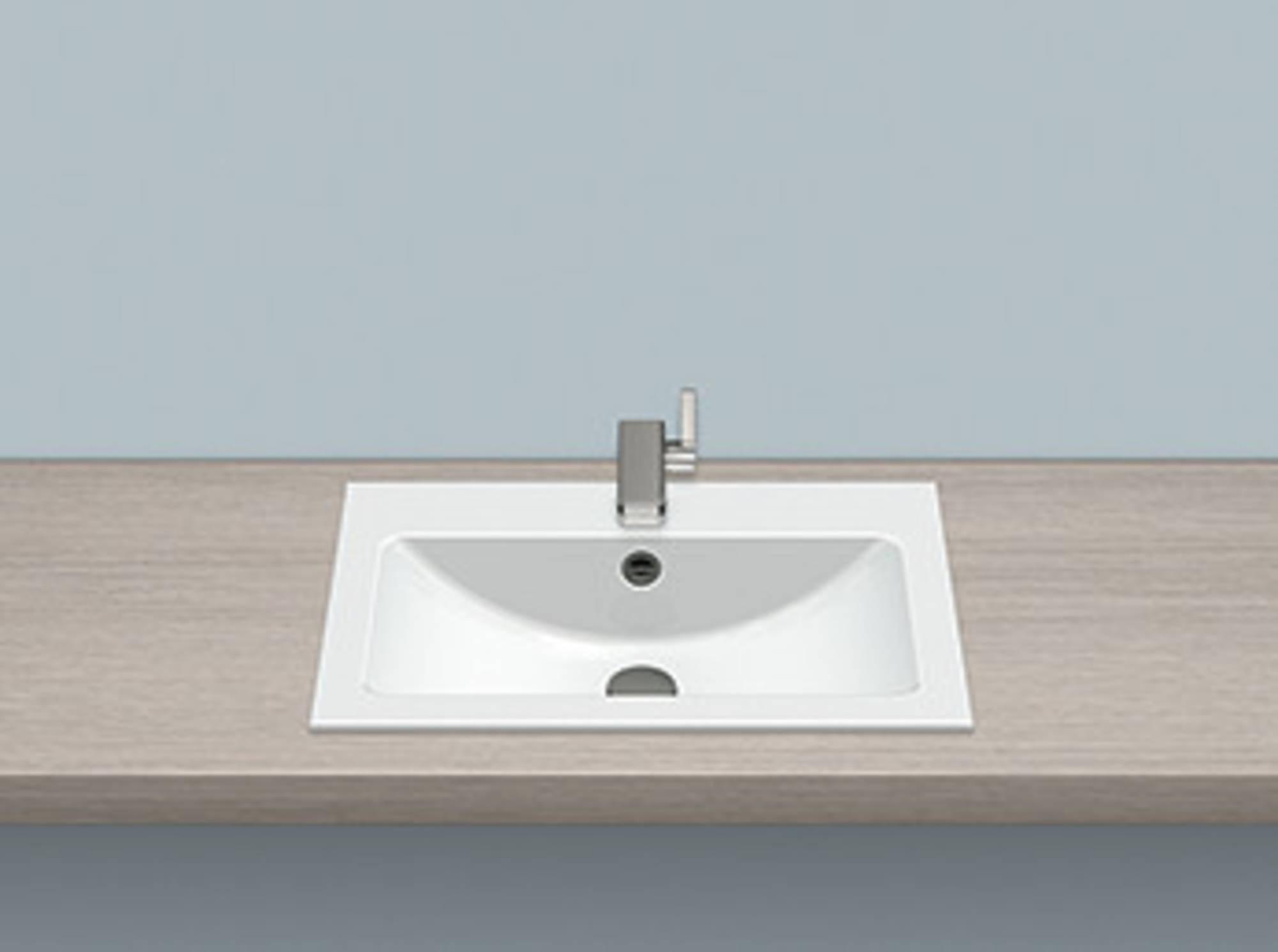Alape Eb serie opbouw wastafel 58,5x42,5 cm, wit
