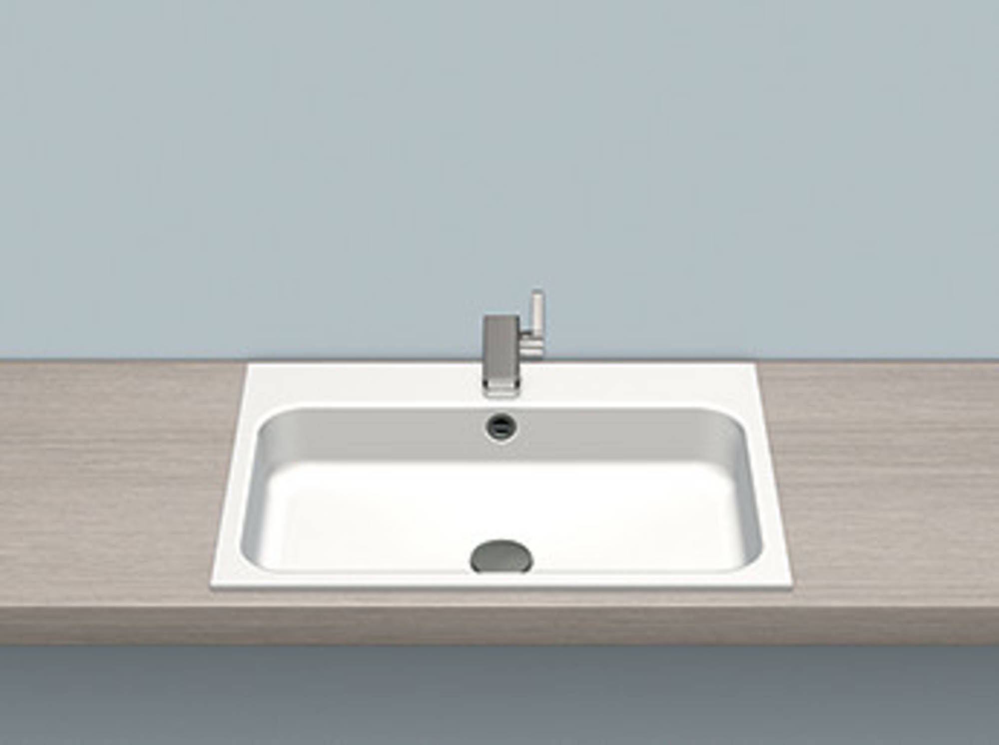 Alape Stream wastafel 65x47,2x12,7cm wit