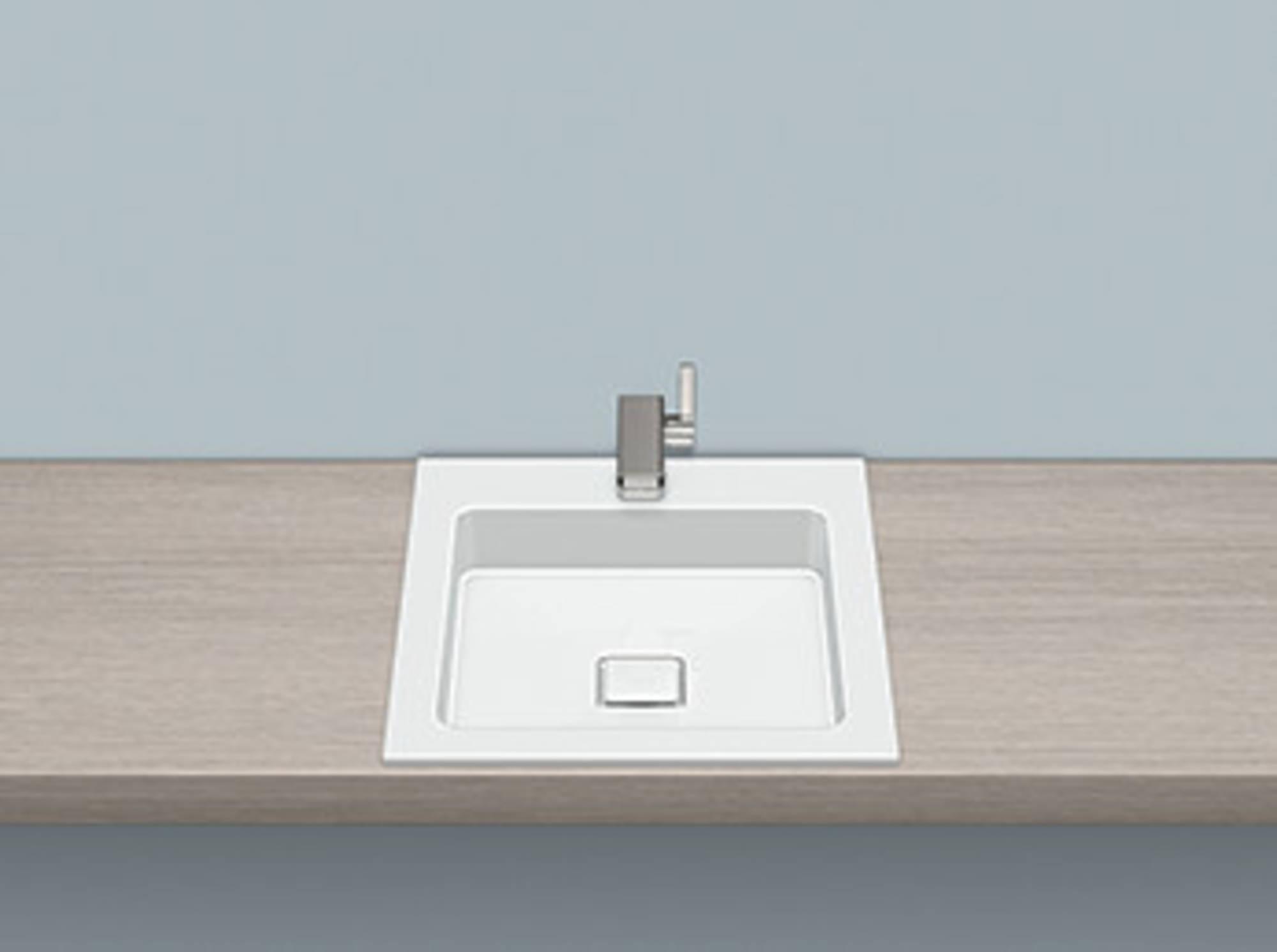 Alape Eb serie opbouw wastafel 45x50 cm, wit