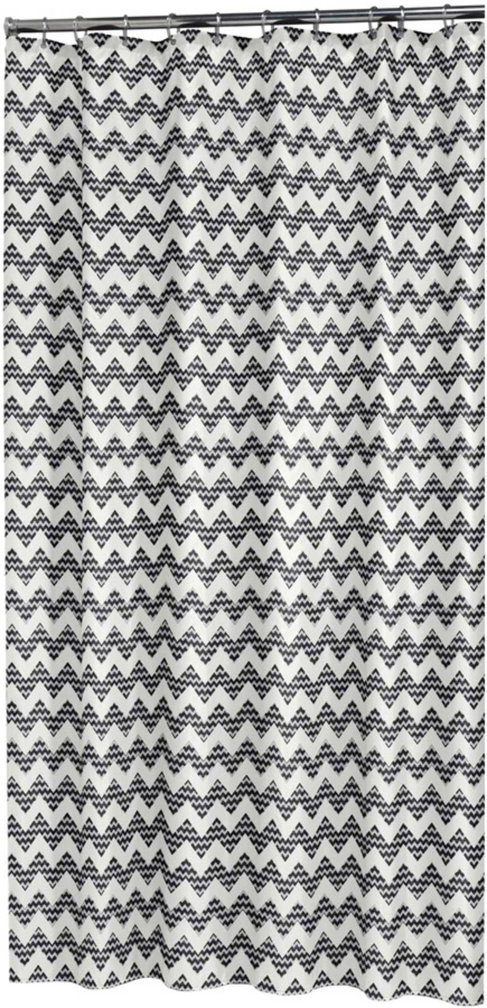Sealskin Motif Douchegordijn 180x200 cm zwart