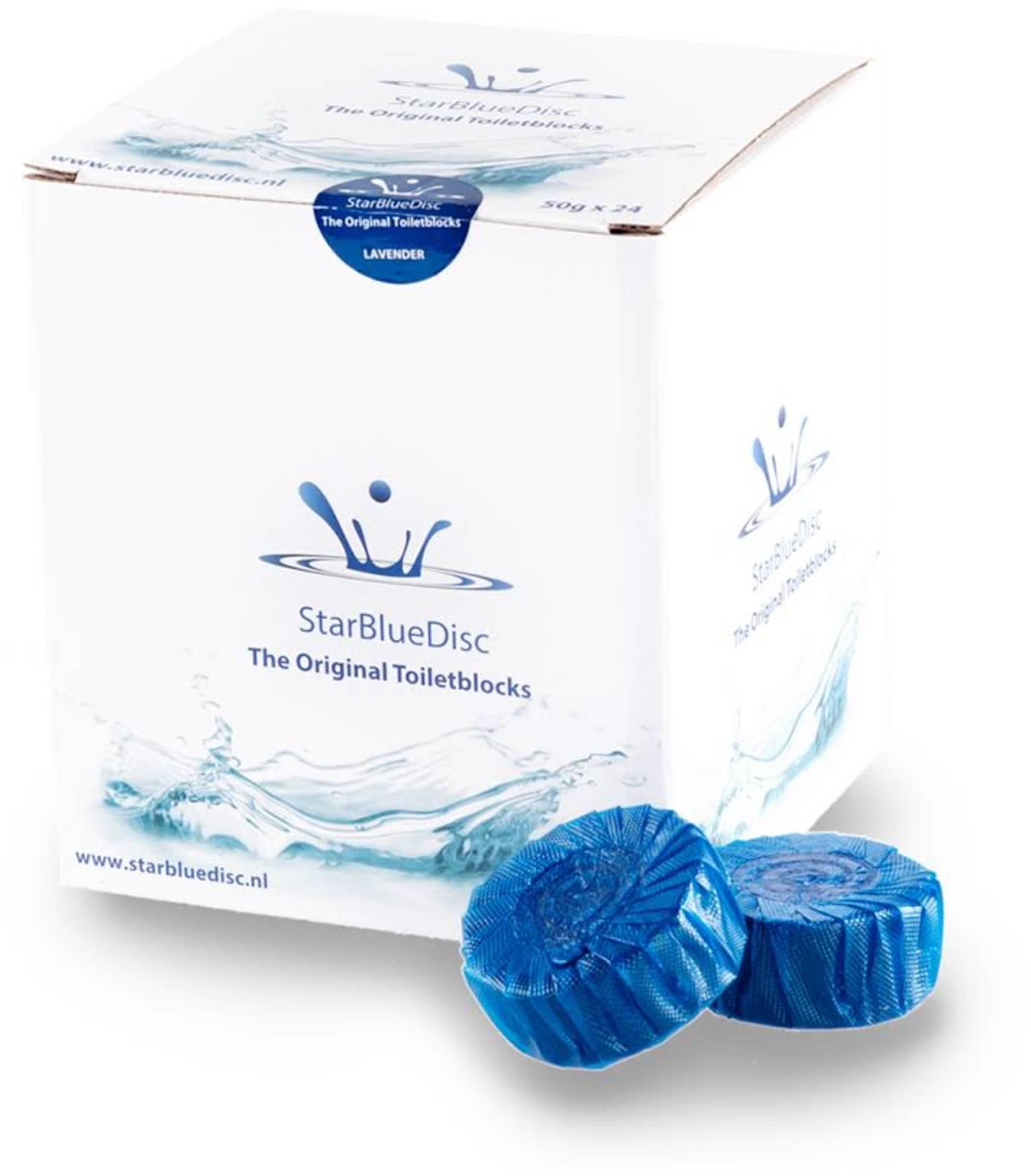 StarBlueDisc 24 stuks toiletblokjes jaarverpakking Blauw