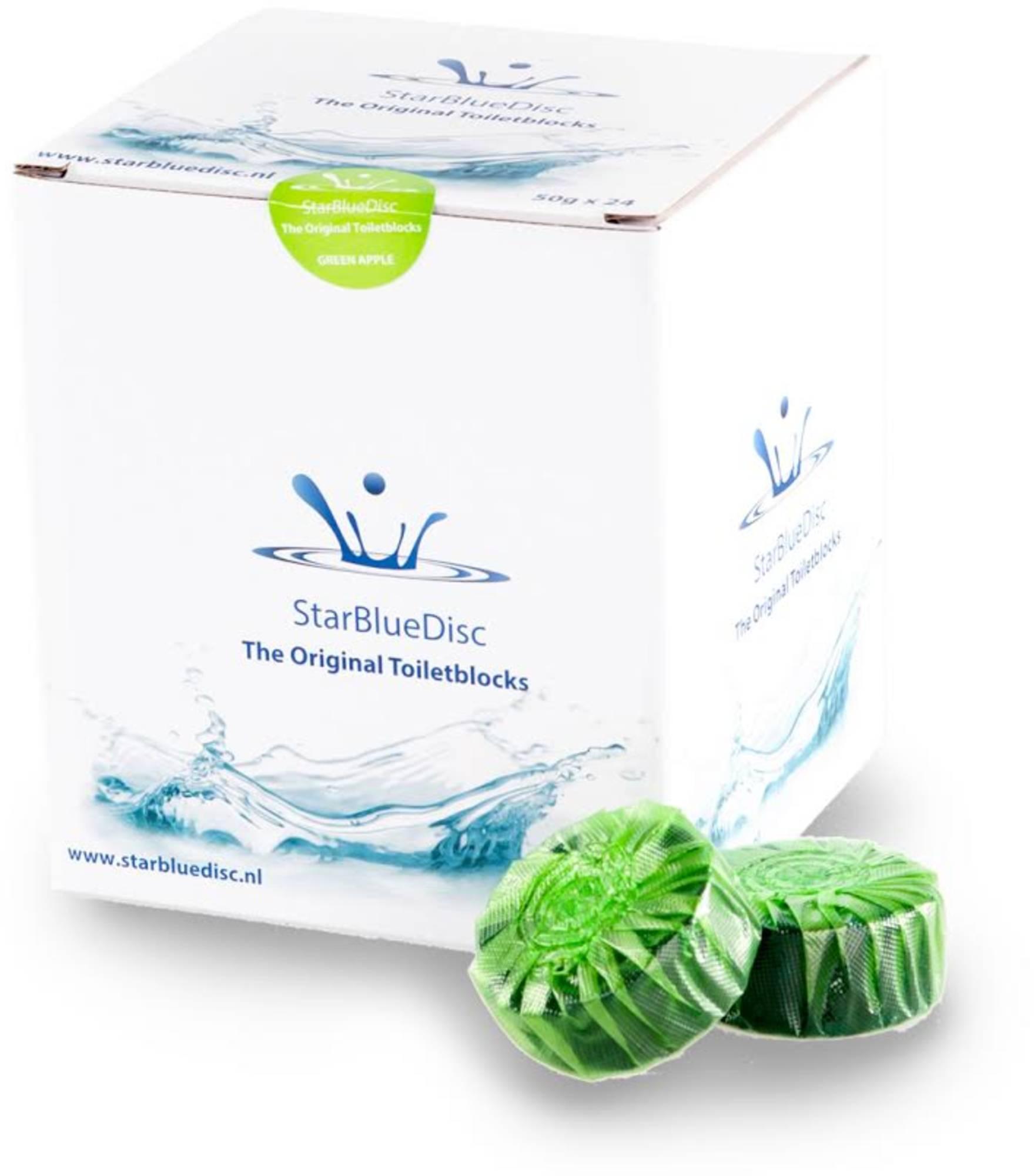 StarBlueDisc 24 stuks toiletblokjes jaarverpakking Groen