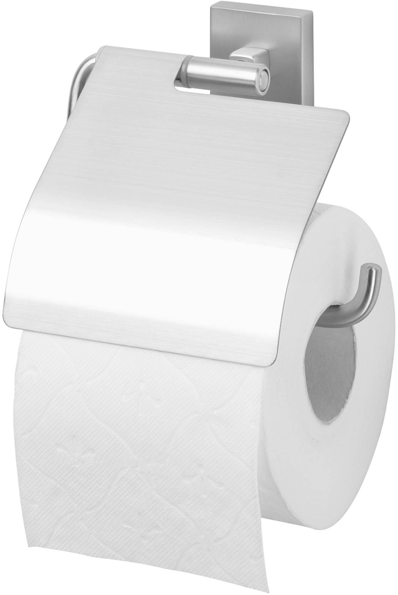 Tiger Melbourne toiletrolhouder met klep RVS