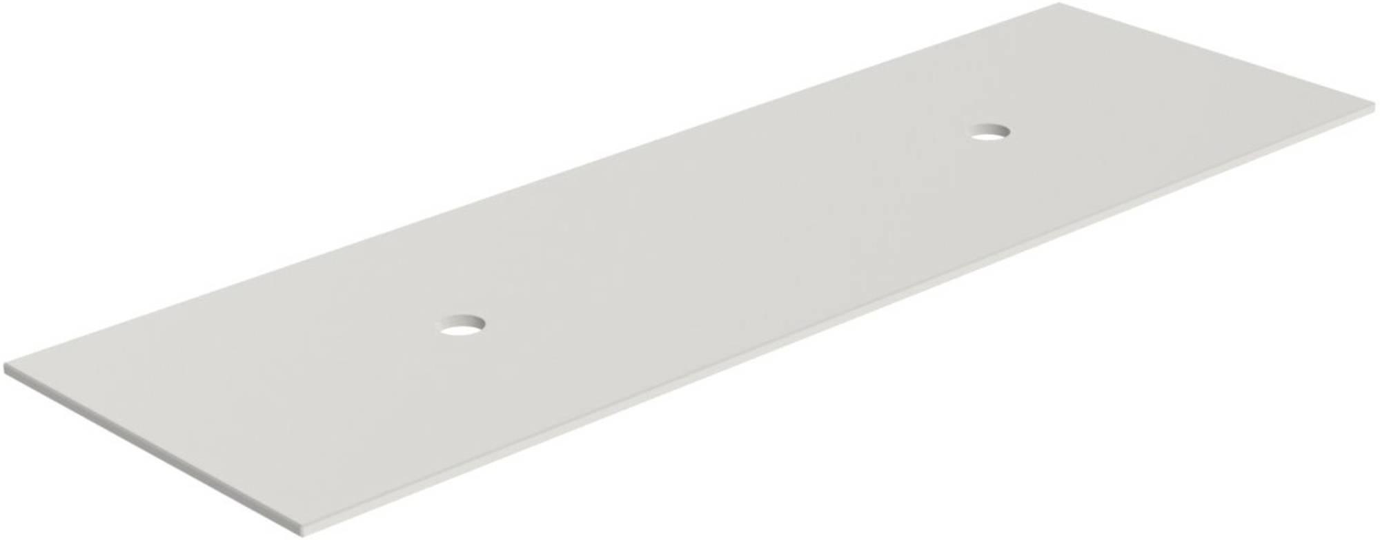 Thebalux Solid X Afdekblad 150x48,5x1,3 cm Cement Grigio Satin