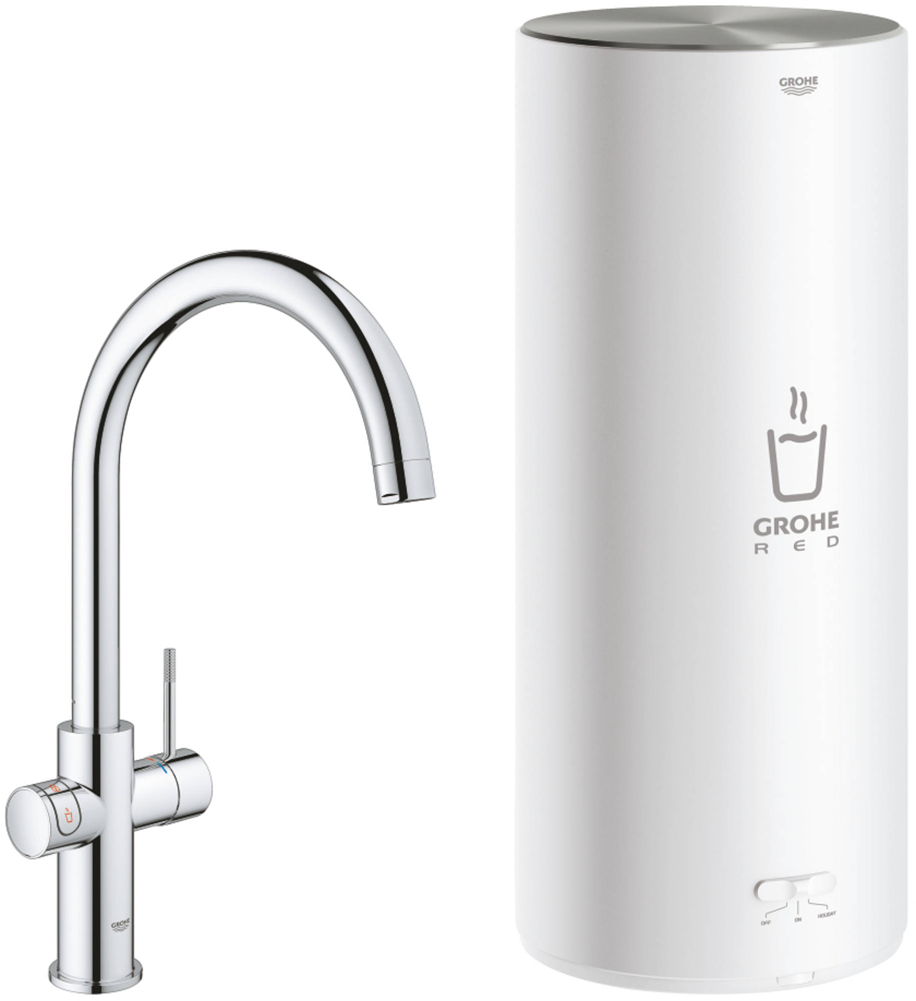 GROHE Red new Duo 3 in 1 Keukenmengkraan en combi boiler 30031 chroom