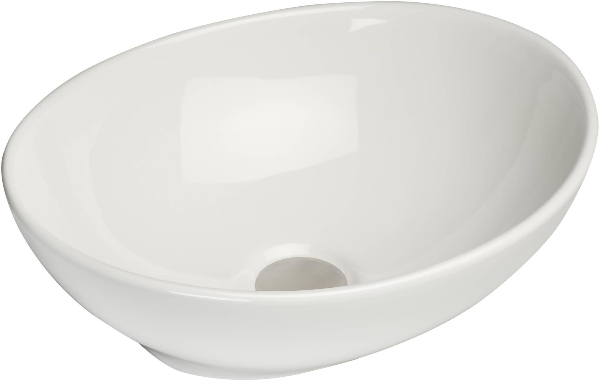 Productafbeelding van Saqu Design Collection Elegance Opzetwastafel 40x33x15 cm wit