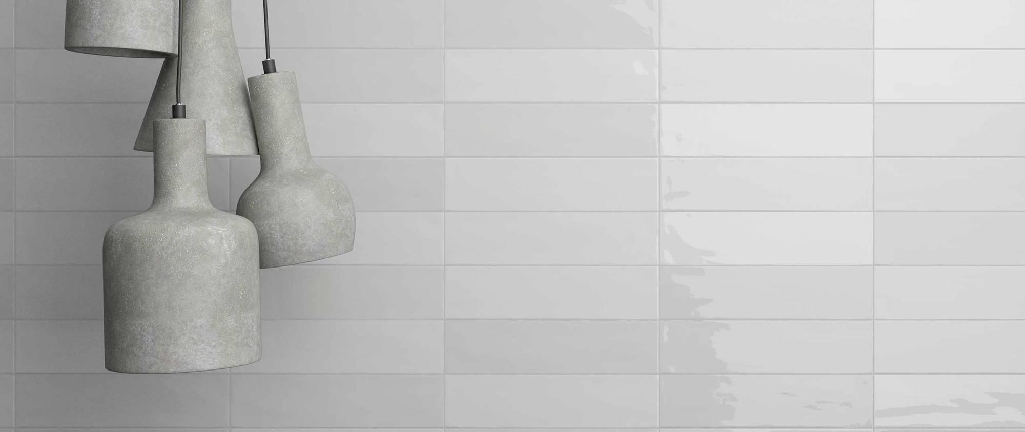Wandtegel Wow Gradient 7,5x30 cm white matt 0,44 M2