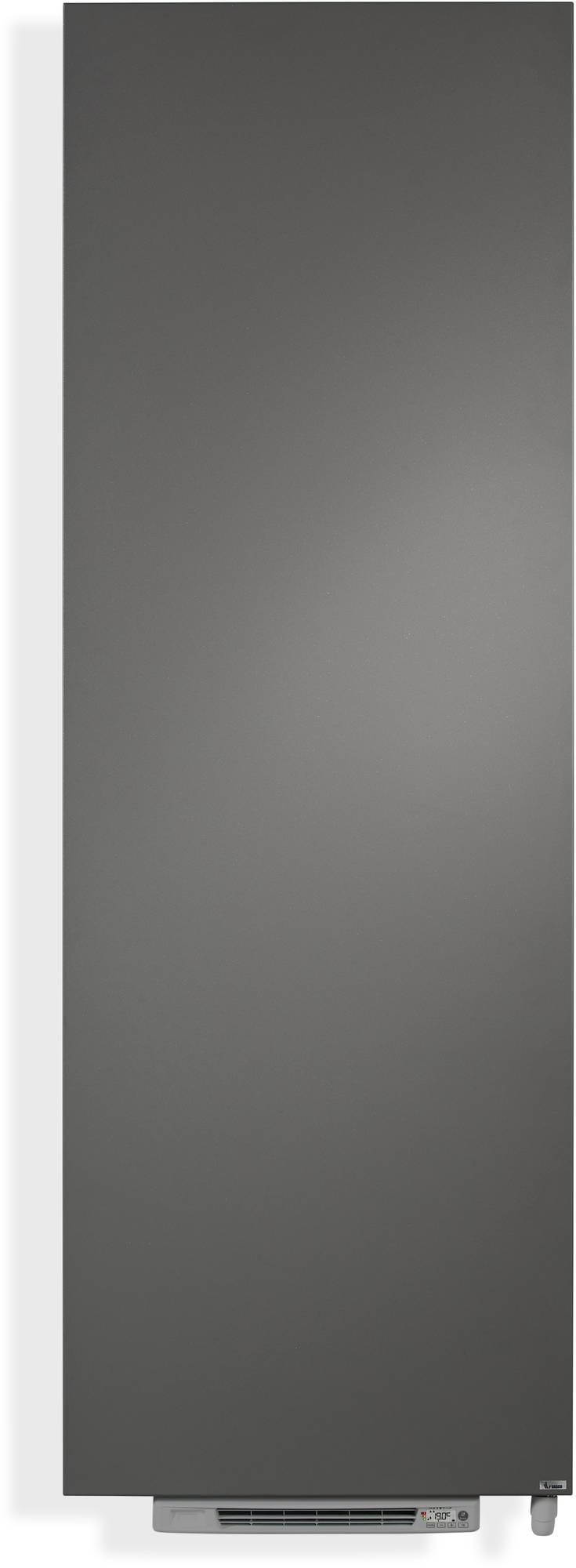 Vasco Niva N1L1-EL Blower elektrische radiator 183x62cm 2250W Grijs Aluminium