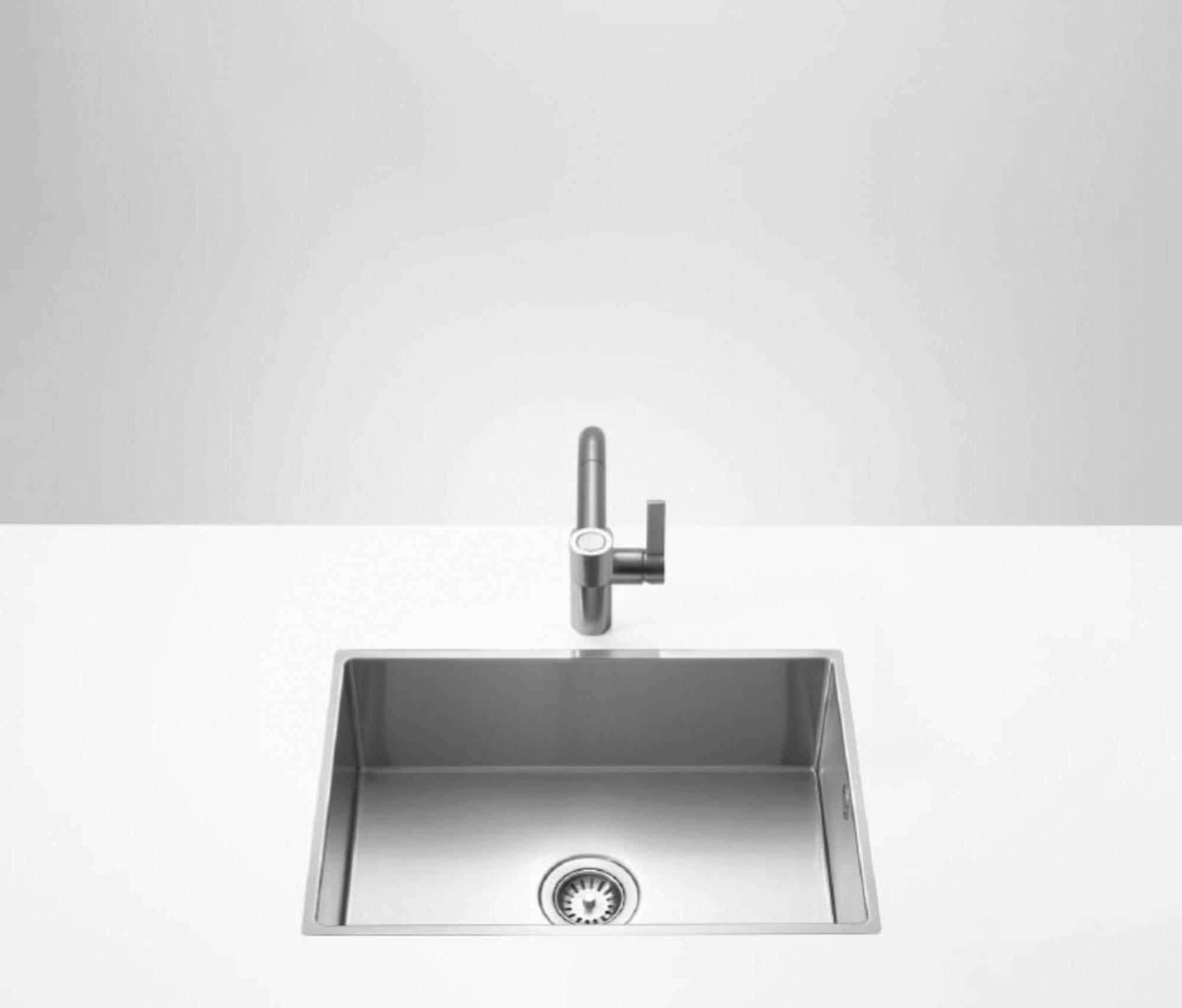 Dornbracht Water Units wastafel enkel 57x40,5 cm Roestvrijstaal mat