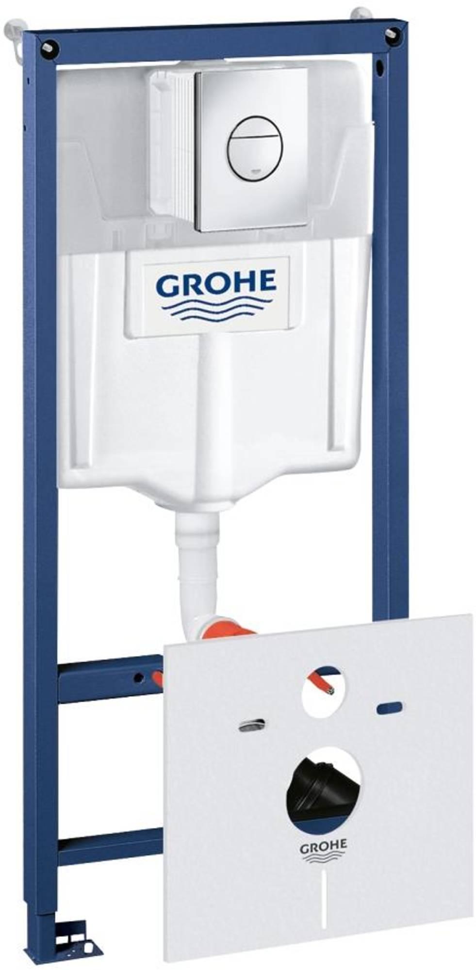 Grohe Rapid sl wc-element met nova cosmopolitan bed.plaat chroom