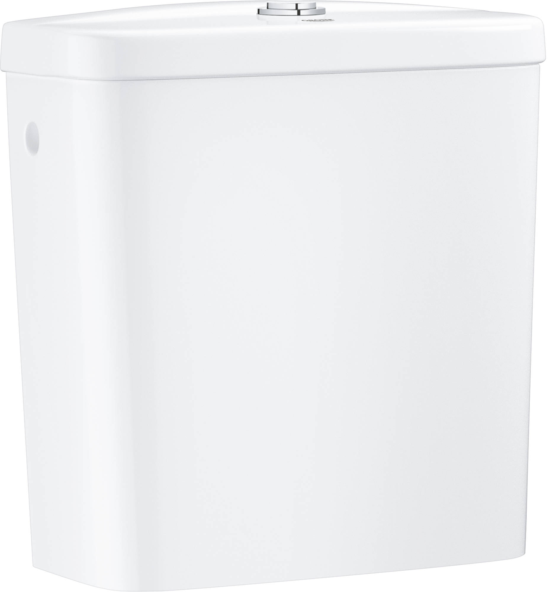 GROHE Bau Ceramic staande wc, zonder spoelrand, glanzend keramiek, Alpine Wit, horizontale afvoer