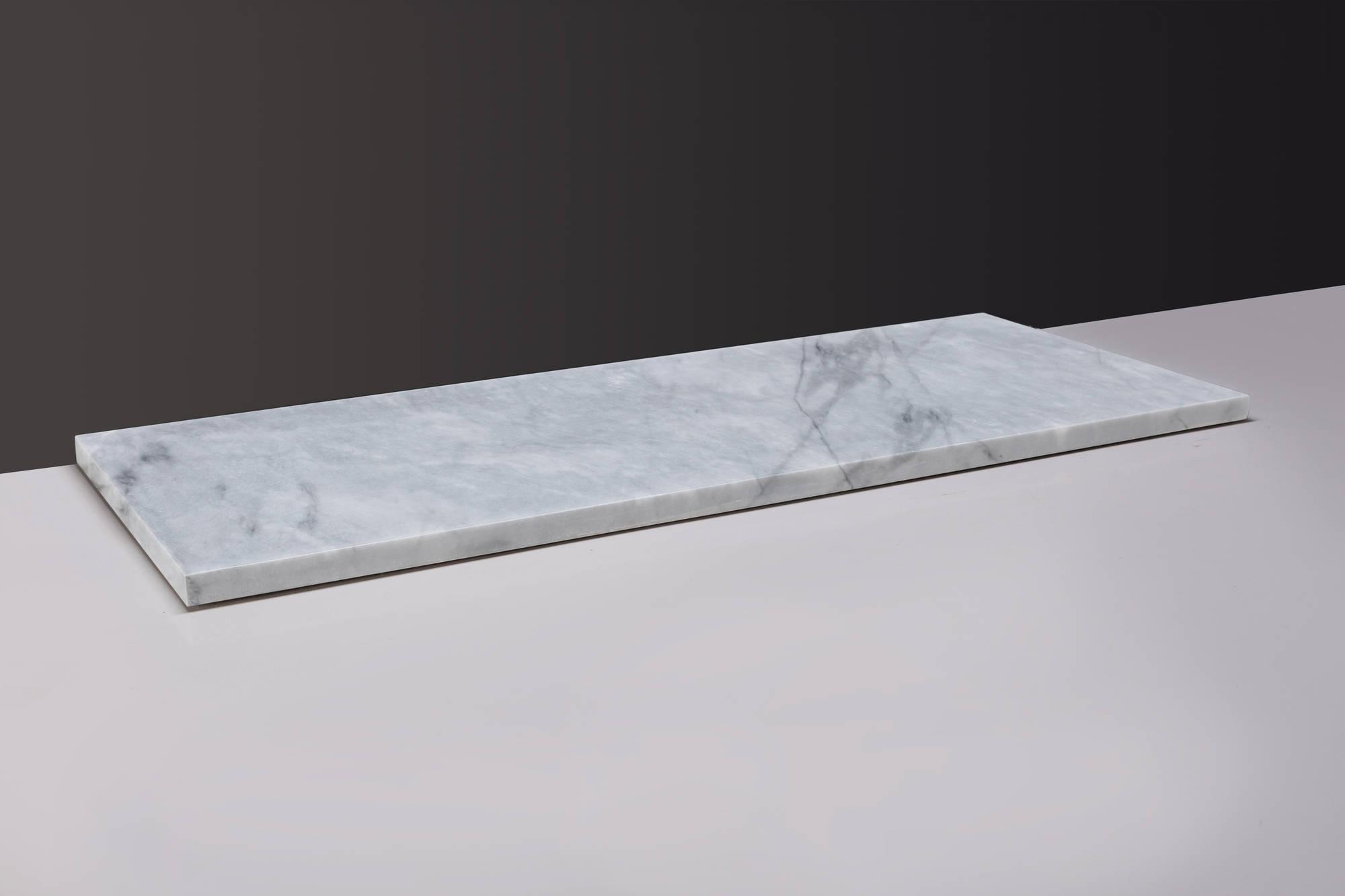 Productafbeelding van Forzalaqua Wastafelblad 60,5x51,5x3 cm Carrara Marmer Gepolijst