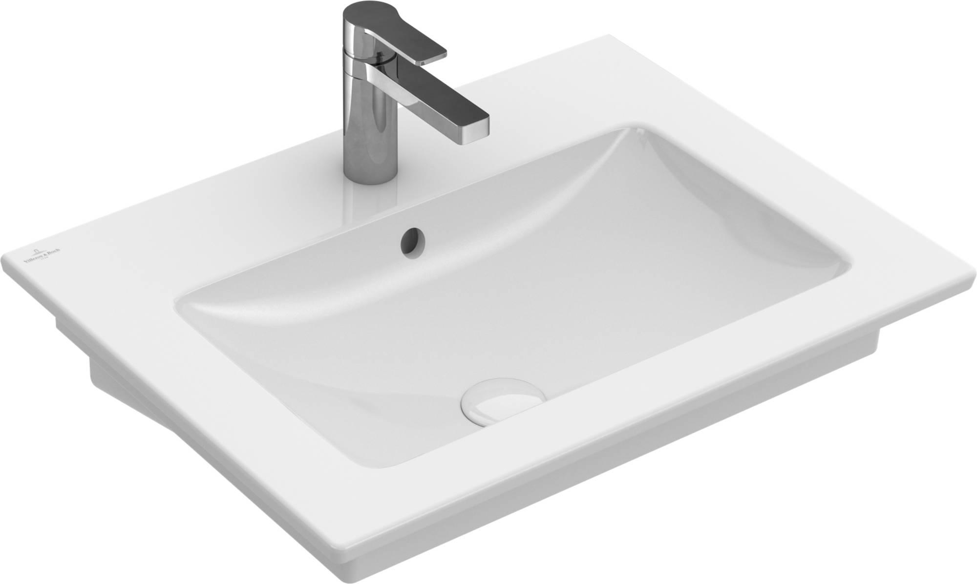 Villeroy&Boch Venticello Wastafel Keramiek 50x65 cm Wit Alpin CeramicPlus
