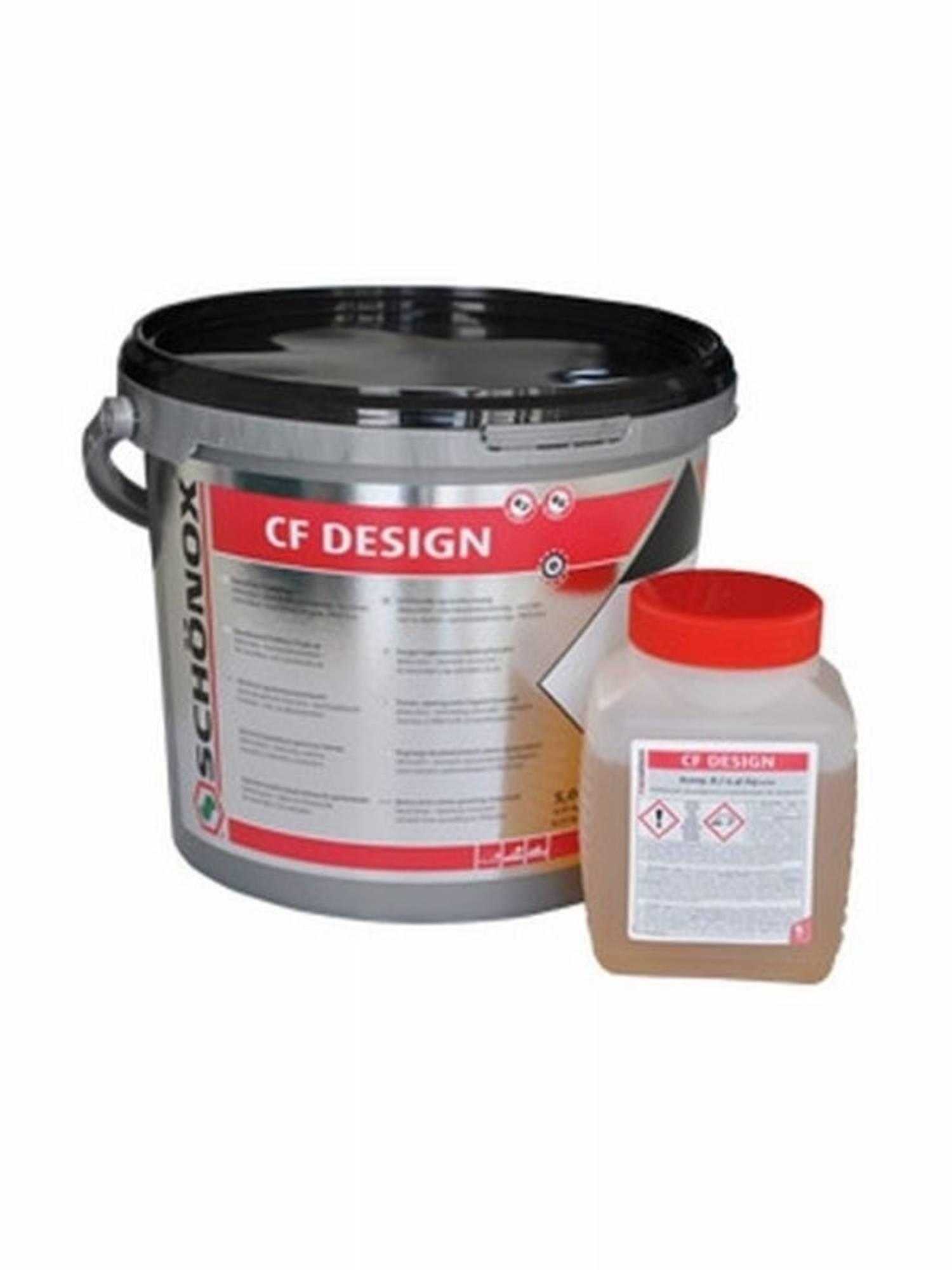 SCHONOX CF DESIGN epoxyharsvoeg emmer a 5 kg. ANTRACIET (0000244083)