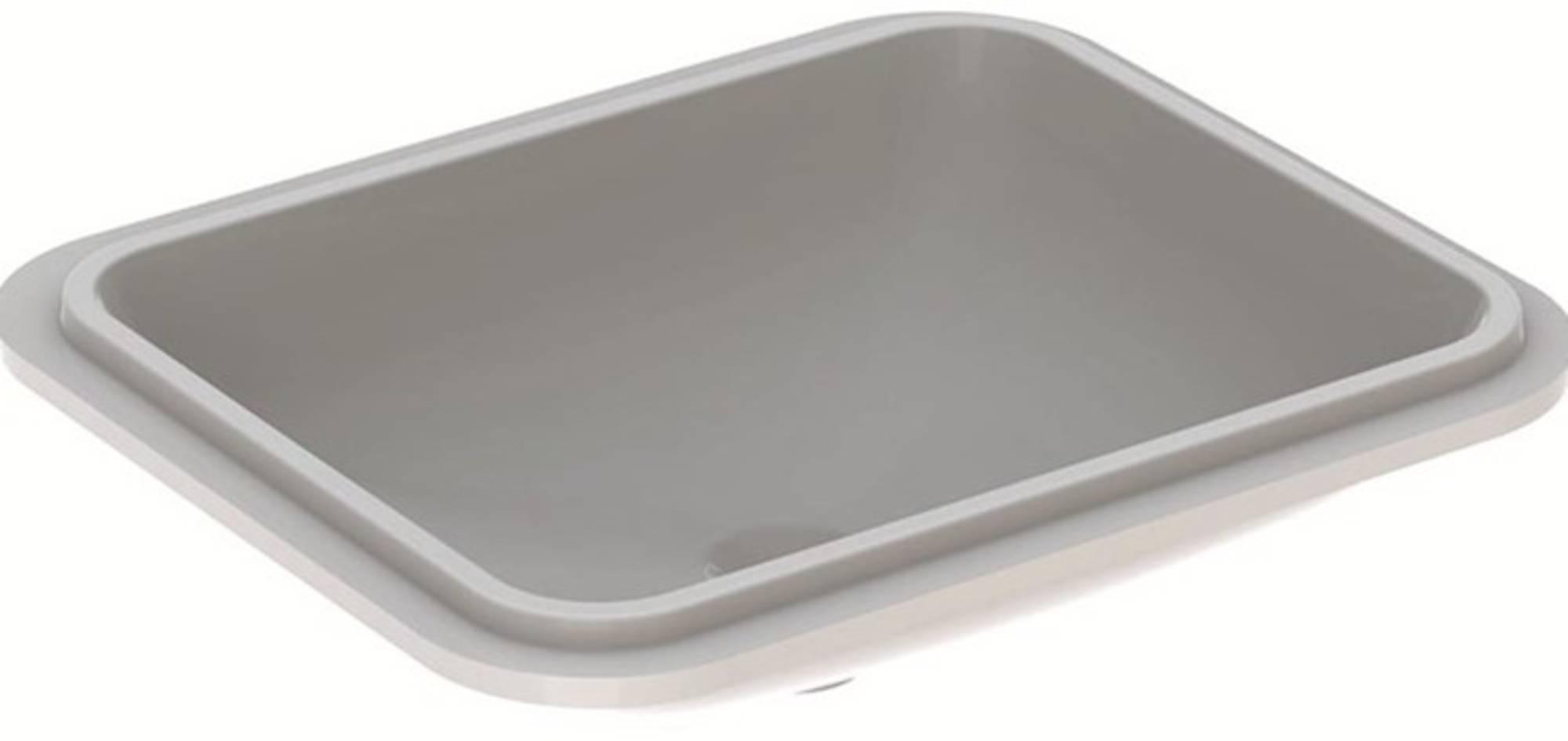 Geberit Variform Onderbouwwastafel 50x49x17,8 cm Wit