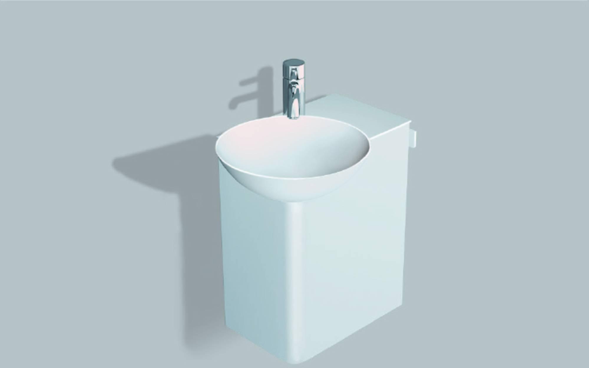 Alape Wp.insert 1 meubelset 48,5cm,wastafel links aflegvlak rechts, wit