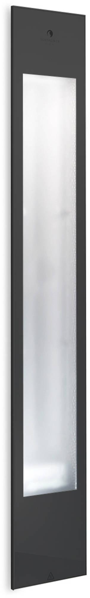 Productafbeelding van Sunshower Pure Black XL Infrarood Inbouwapparaat 19.9x123.8x10cm Full Body 2000watt Aluminium