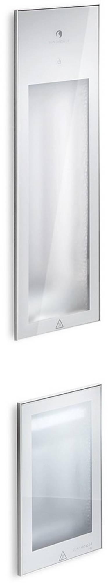Productafbeelding van Pure Duo Infrarood Inbouwapparaat 20X62X10 cm En 20X32X10 cm Met Kuitbrander Aluminium Sunshower