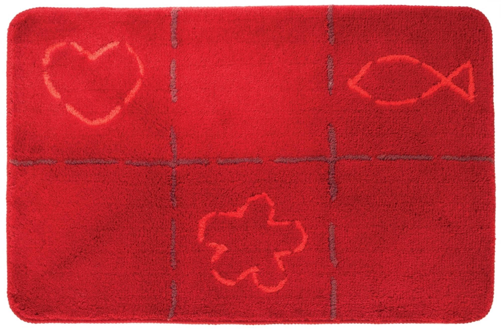 Sealskin tack badmat 60x90cm acryl Rood