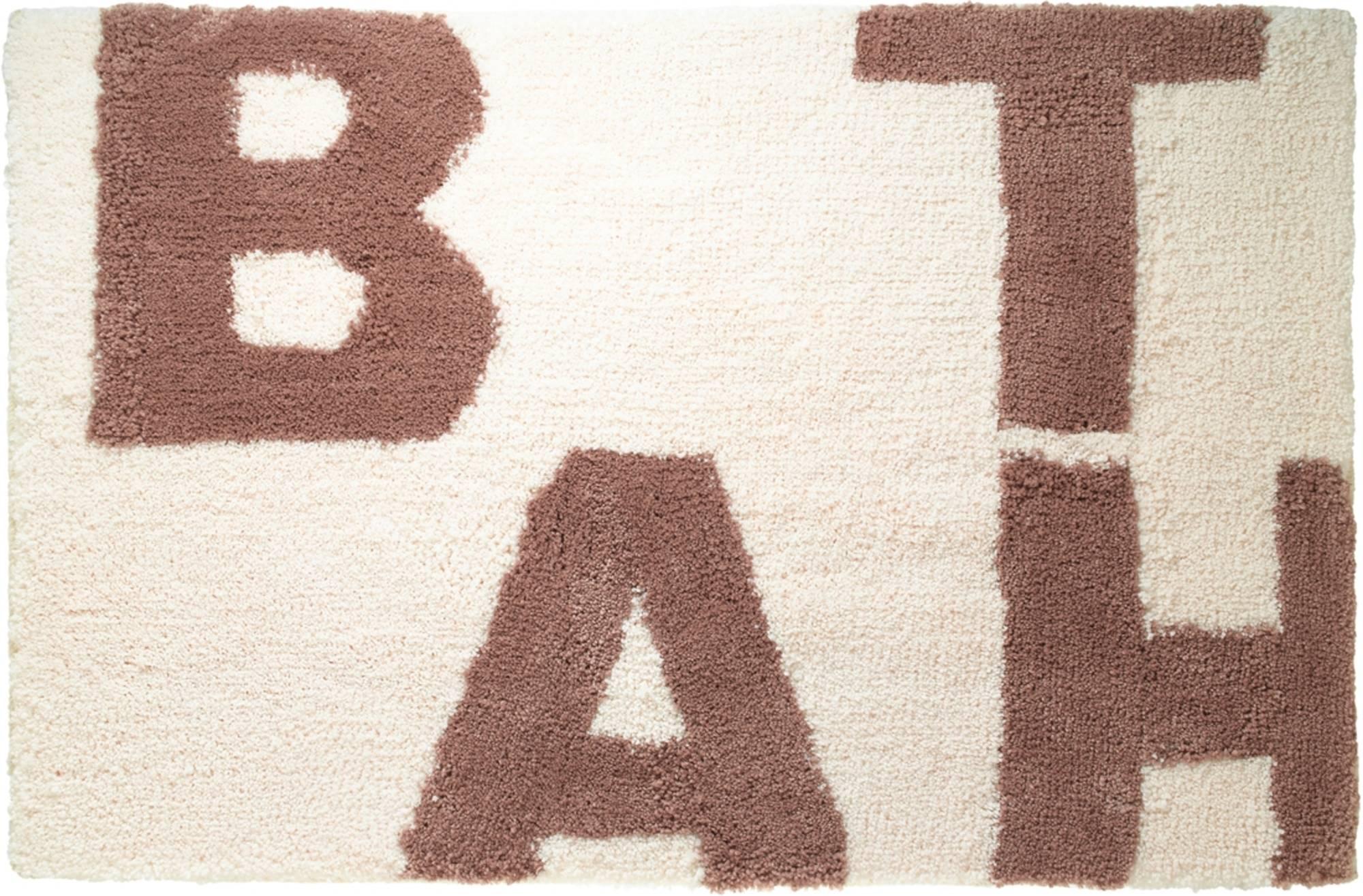 Sealskin littera badmat 90x60cm polyester Ivoor