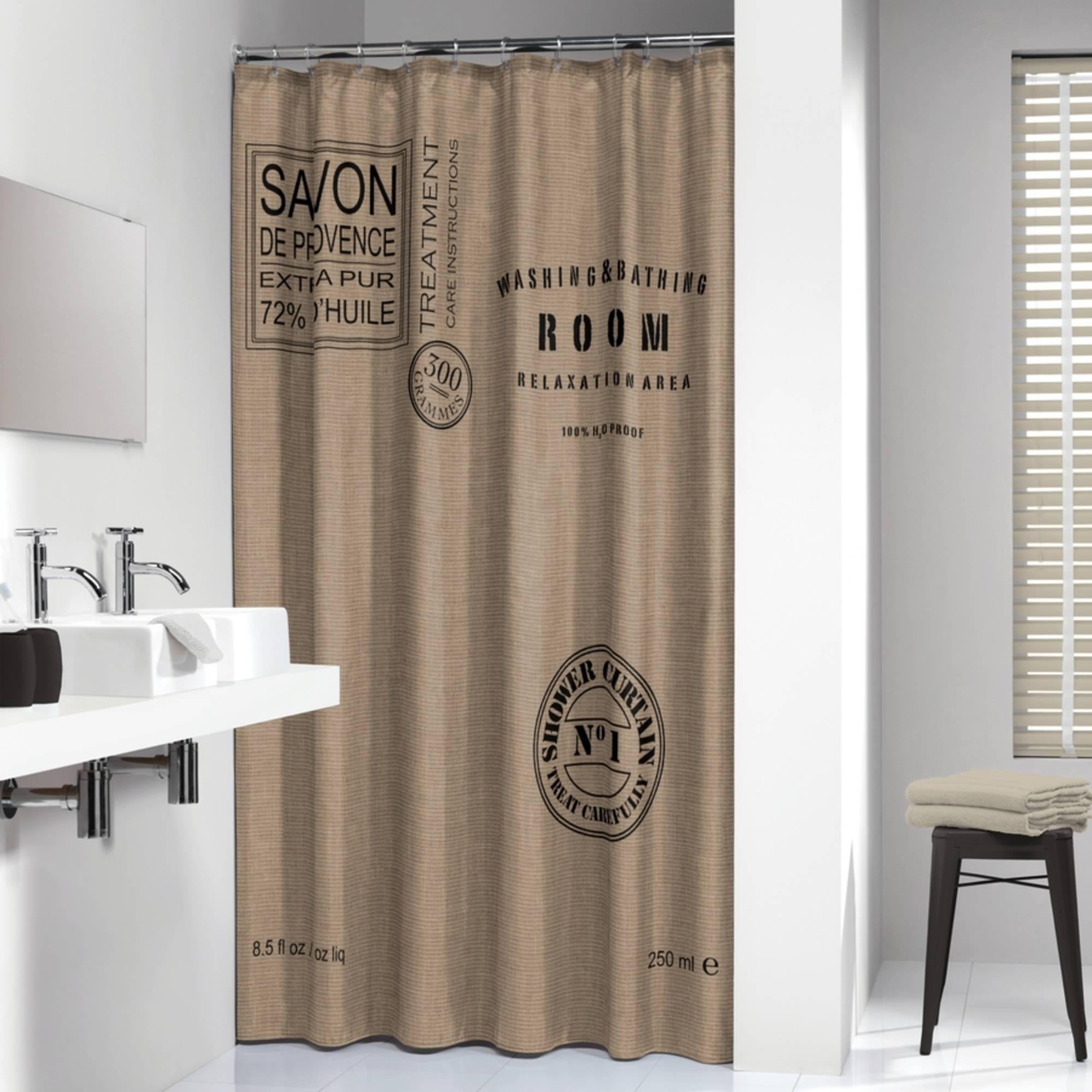 Sealskin Douchegordijn Textiel Savon De Provence 200 x 180cm Linnen