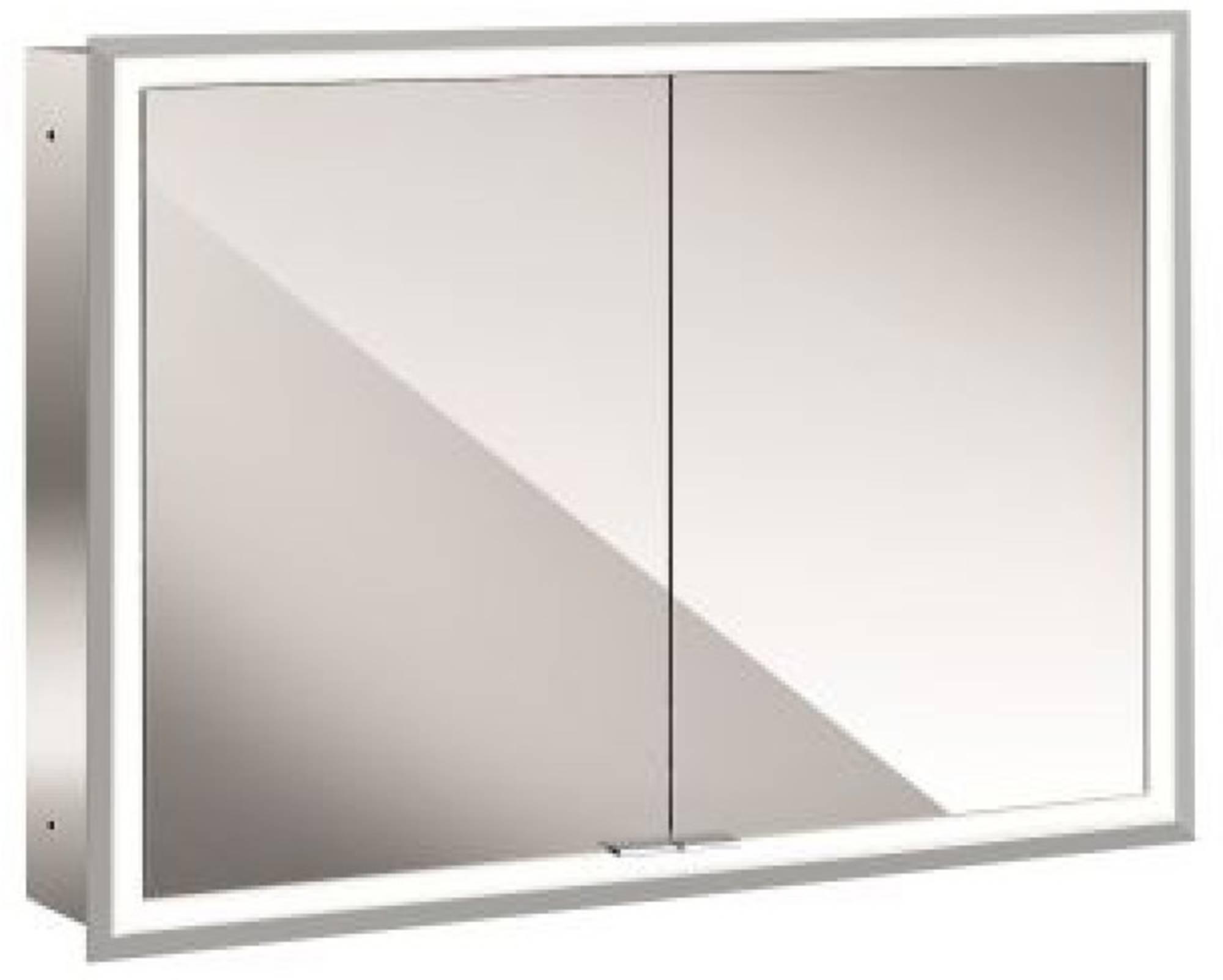 Emco Asis Prime inbouw spiegelkast met led verlichting 103x73 cm wit glas