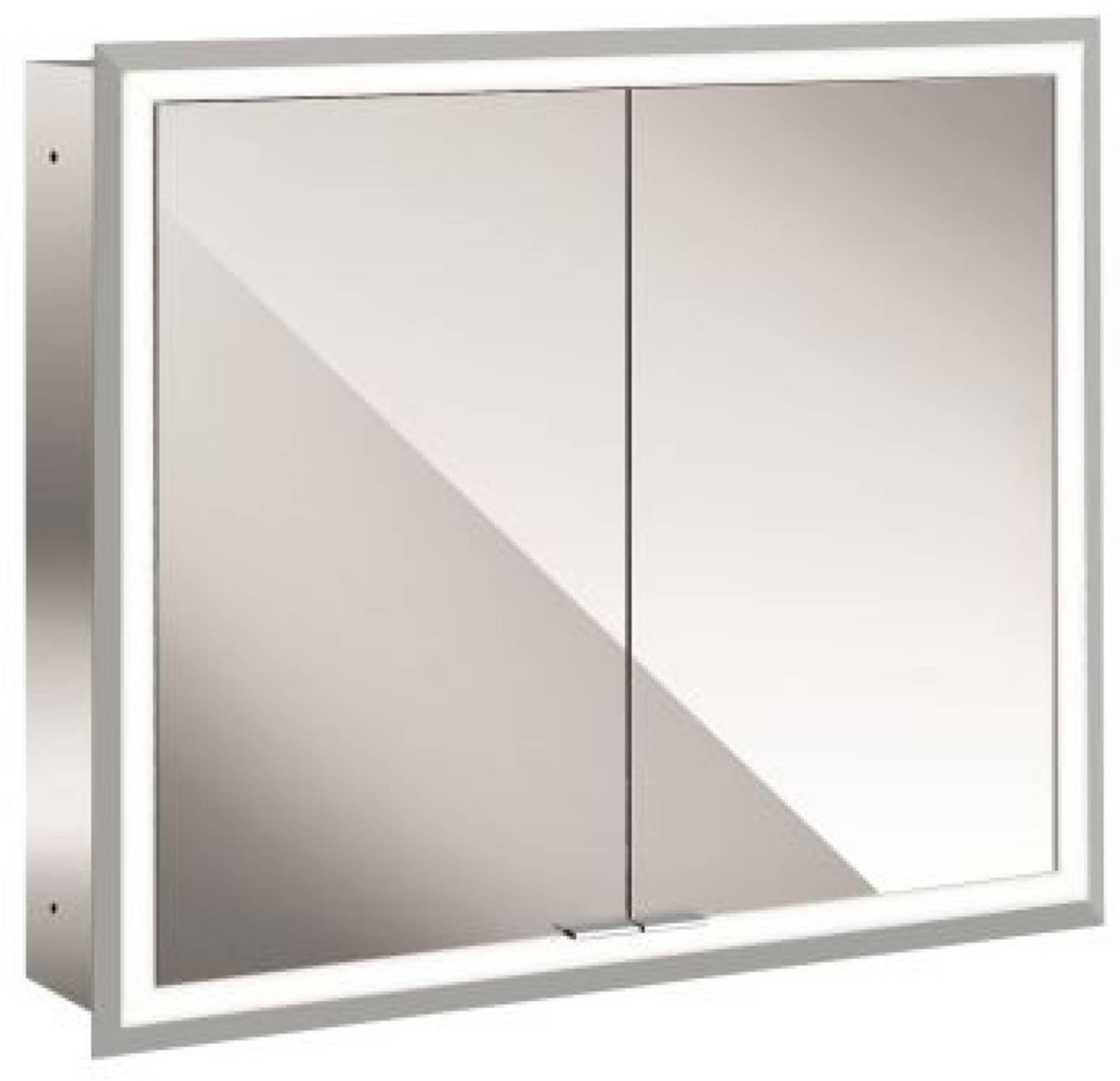 Emco Asis Prime inbouwspiegelkast 830x730 mm met LED witglas