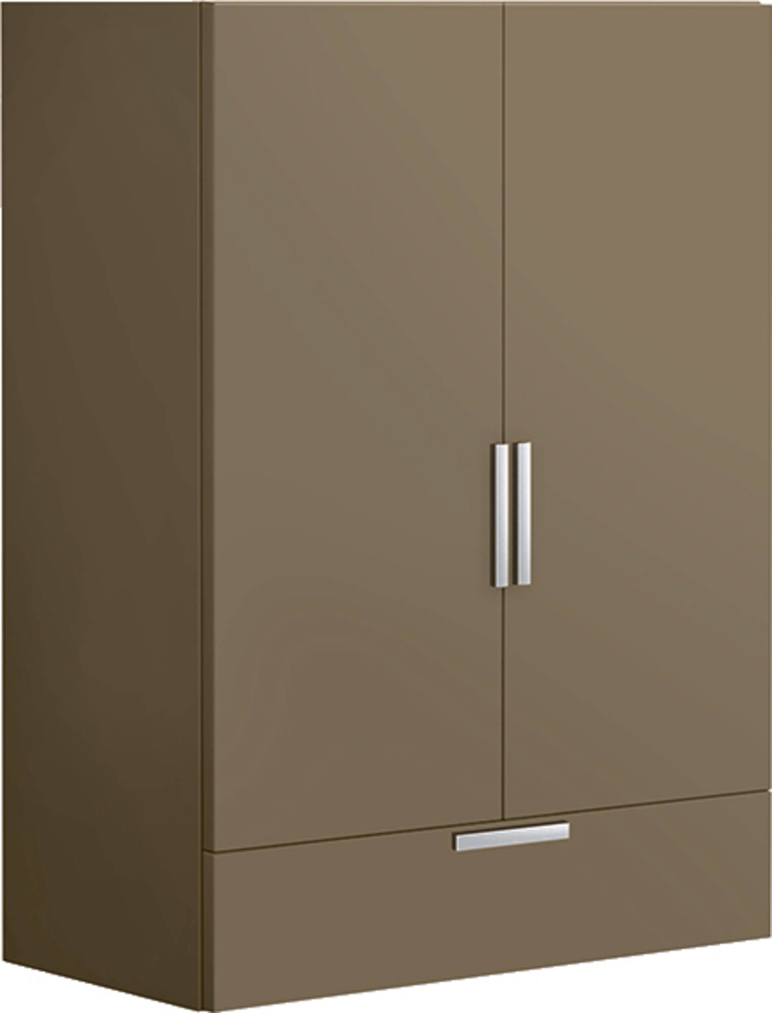 Villeroy & Boch Sentique wandkast m. 2 deuren en 1 lade 95.7x70x37cm glanswit