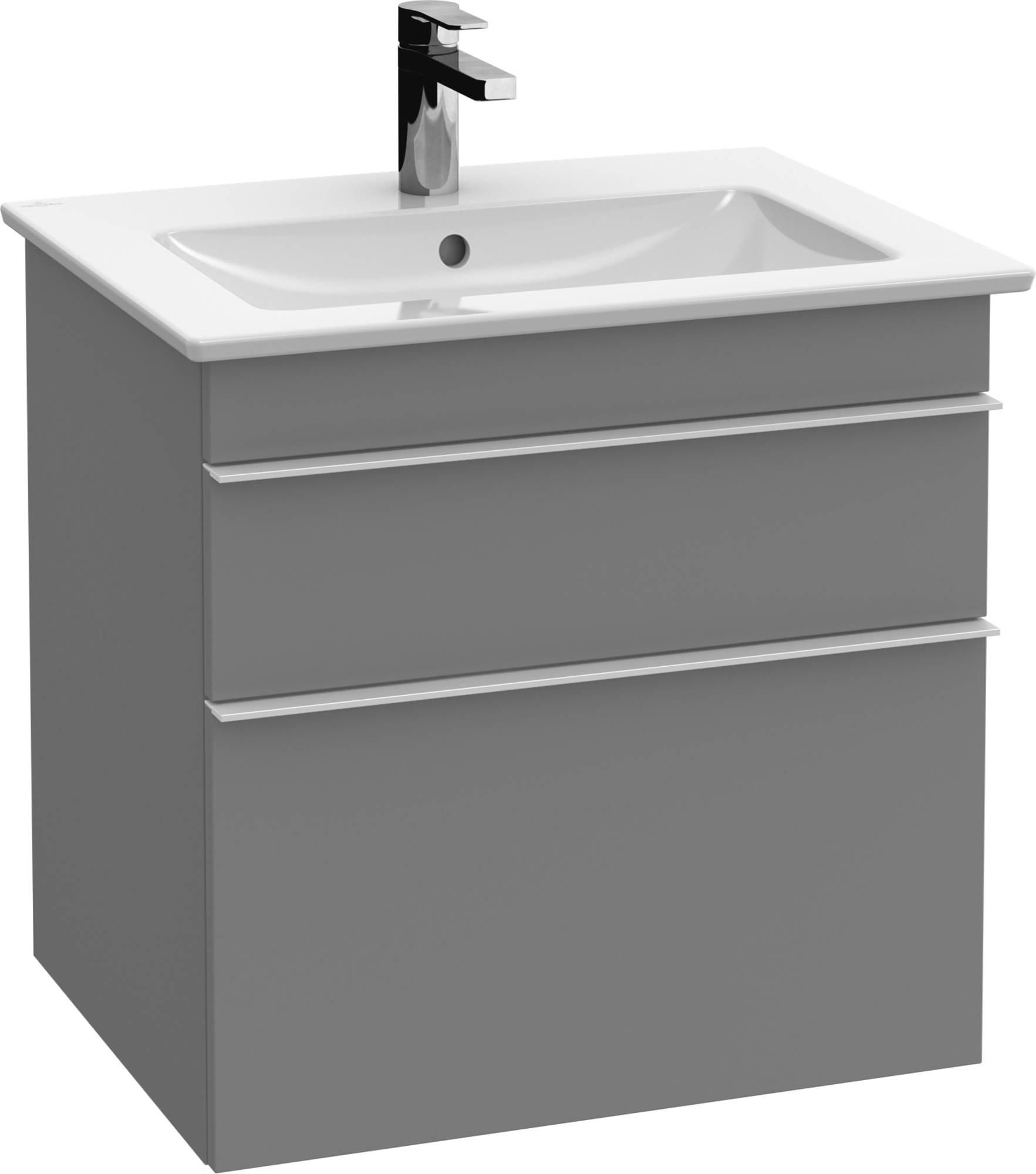 Villeroy&Boch Venticello Wastafelonderkast 55,3x50,2x59  cm  Glossy Grey